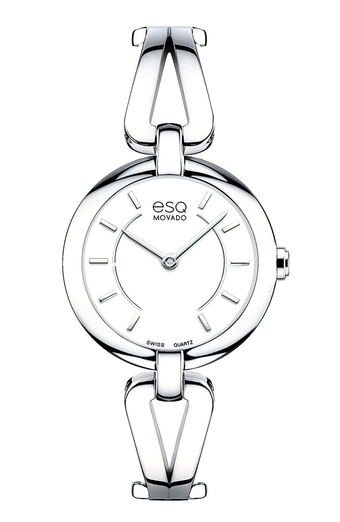 Alternate Image 1 Selected - ESQ Movado 'Corbel' Round Bangle Watch