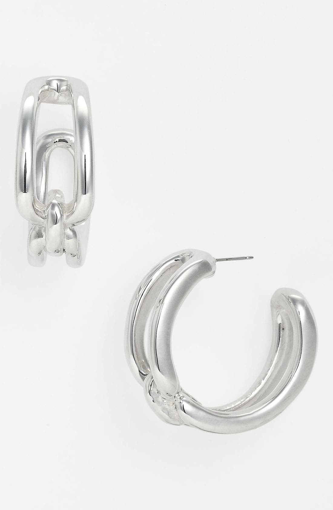 Main Image - Simon Sebbag 'Cyan' Open Hoop Earrings