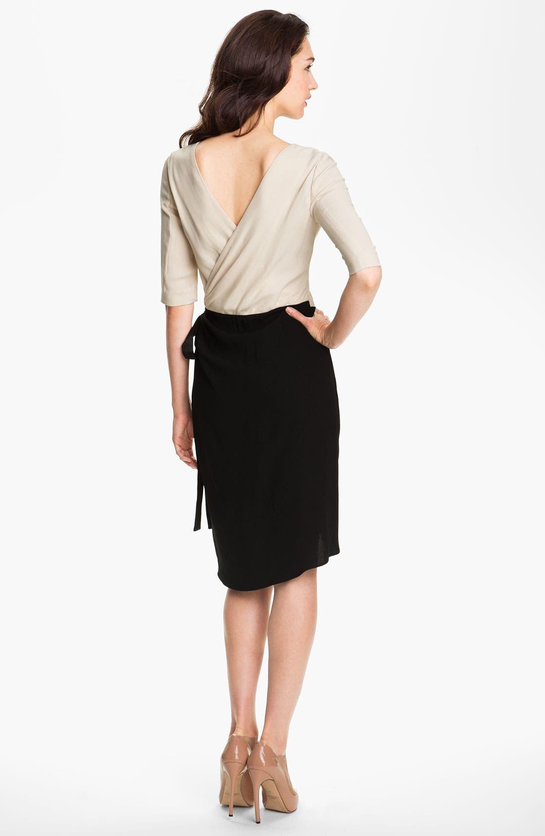 Alternate Image 2  - Rachel Roy Crepe Faux Wrap Dress