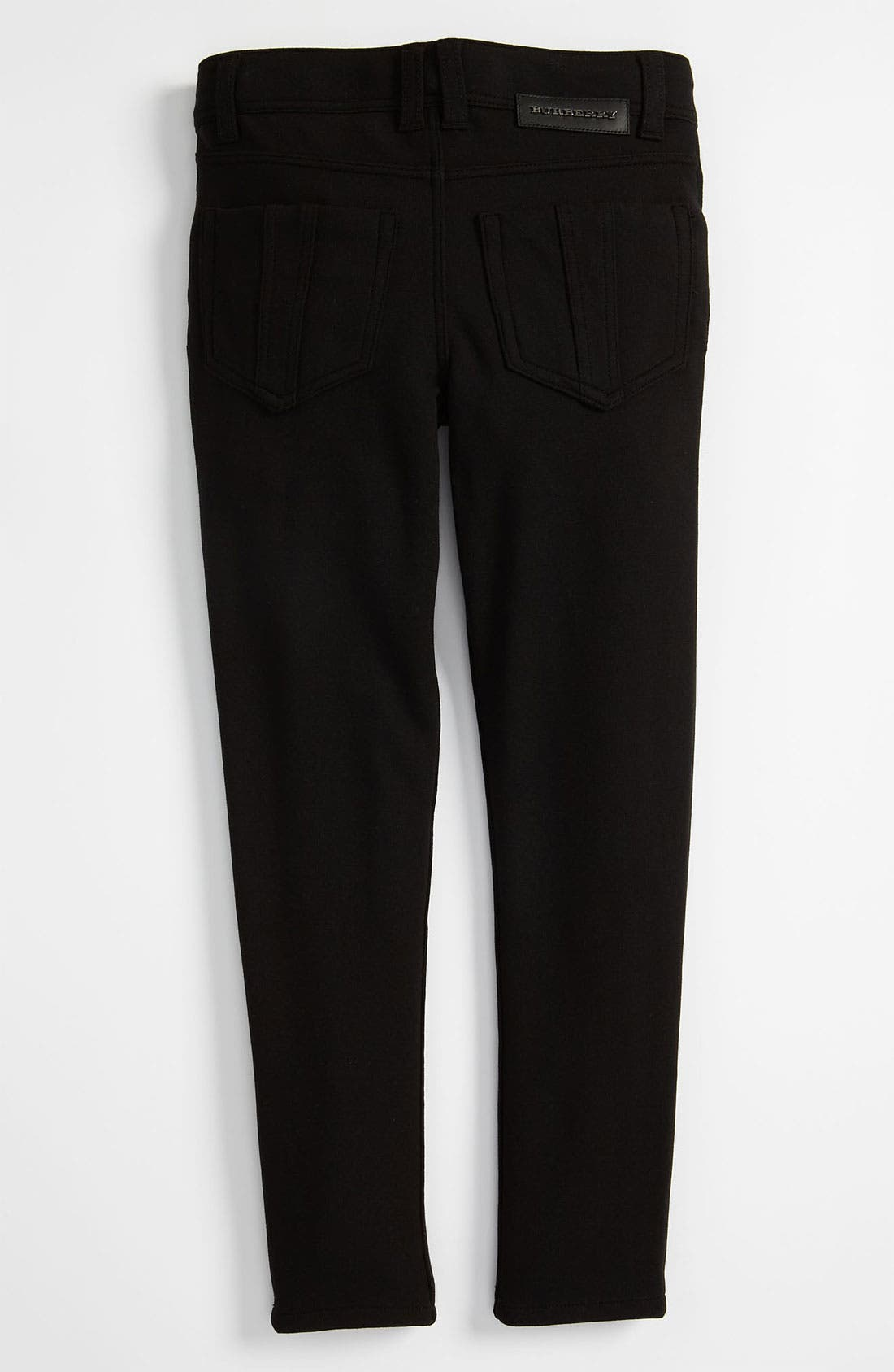 Alternate Image 1 Selected - Burberry Skinny Ponte Knit Pants (Little Girls)