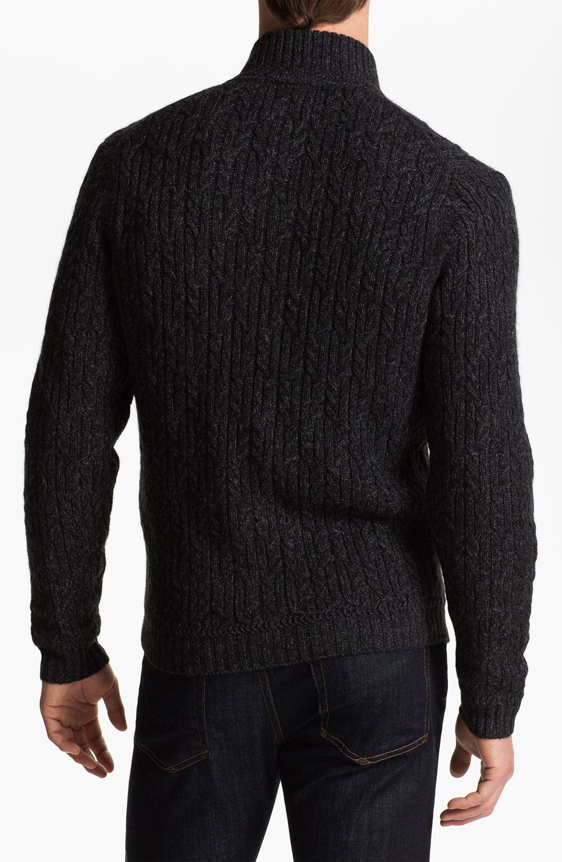 Alternate Image 2  - John W. Nordstrom® Cable Knit Cashmere Cardigan