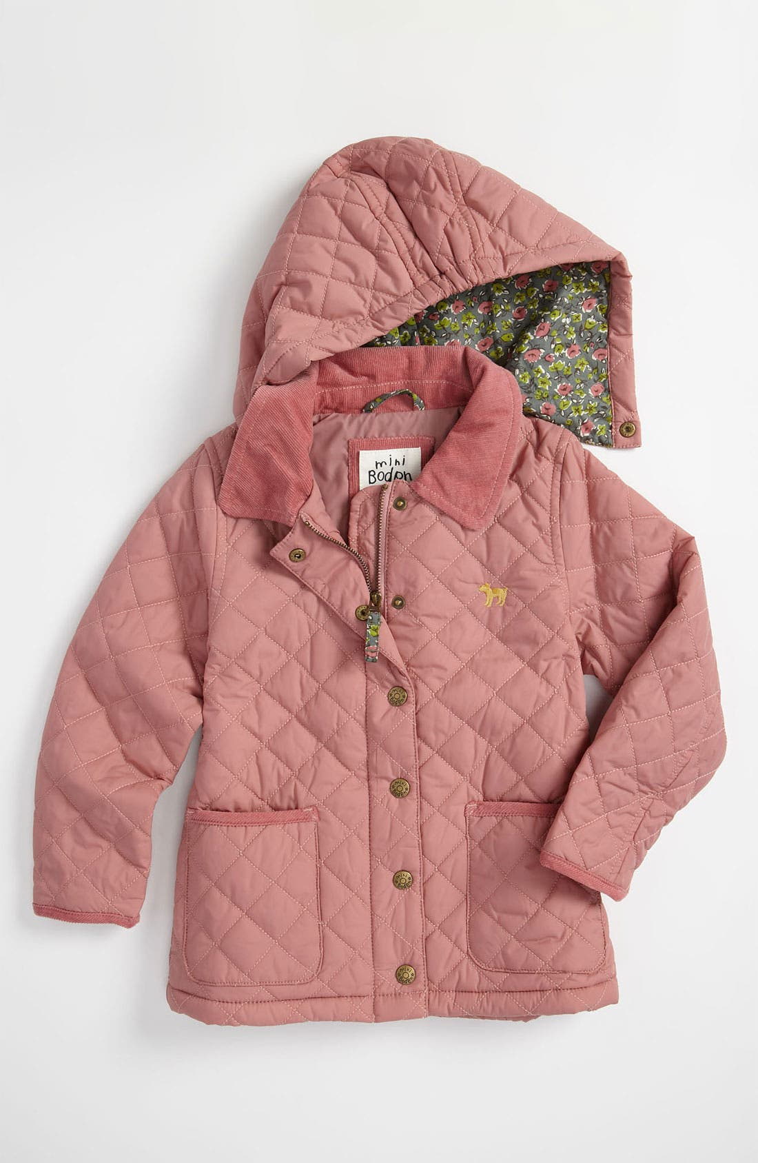 Alternate Image 1 Selected - Mini Boden 'Pretty' Quilted Jacket (Little Girls & Big Girls)