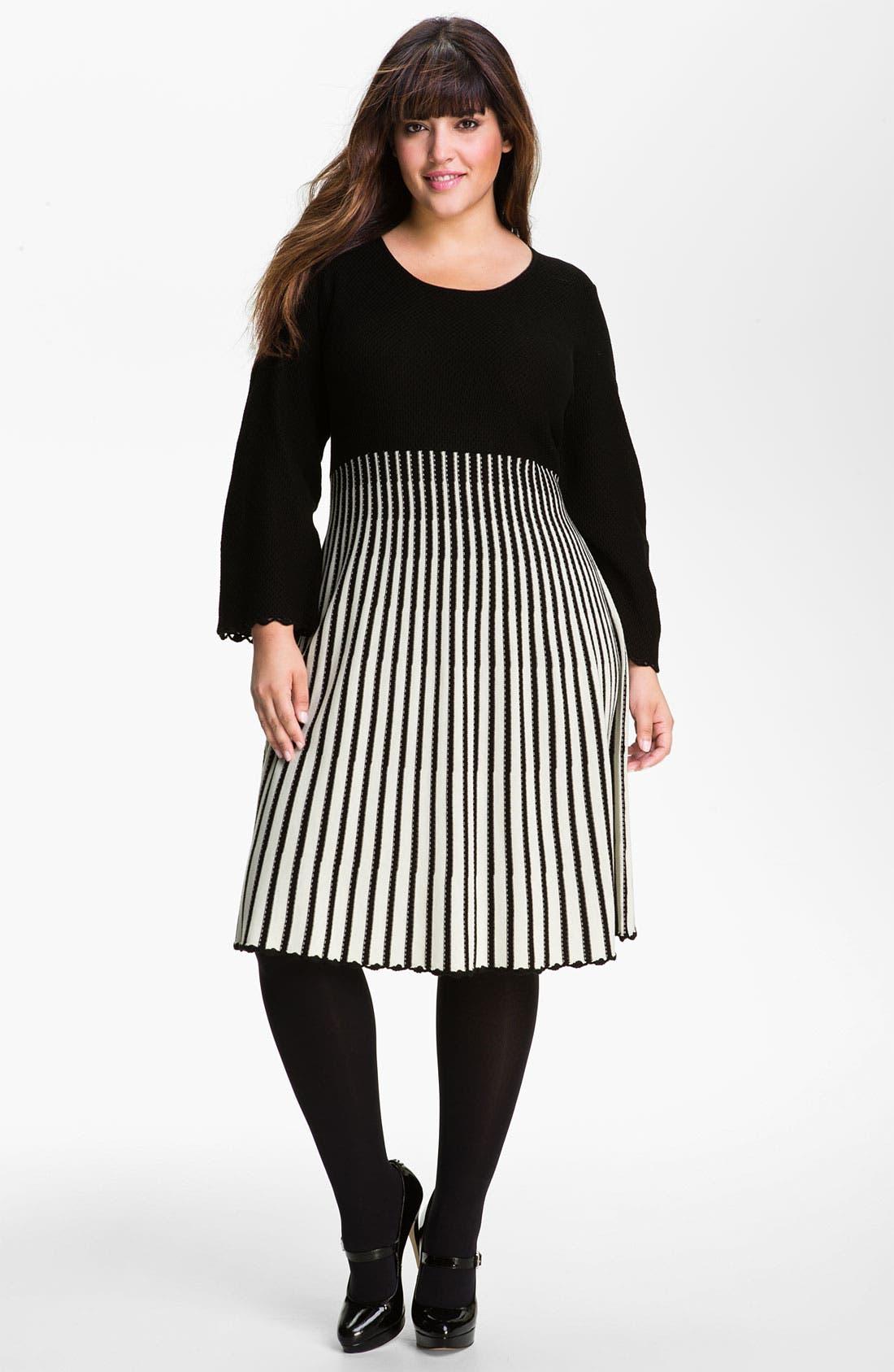 Alternate Image 1 Selected - Calvin Klein Sweater Dress (Plus)