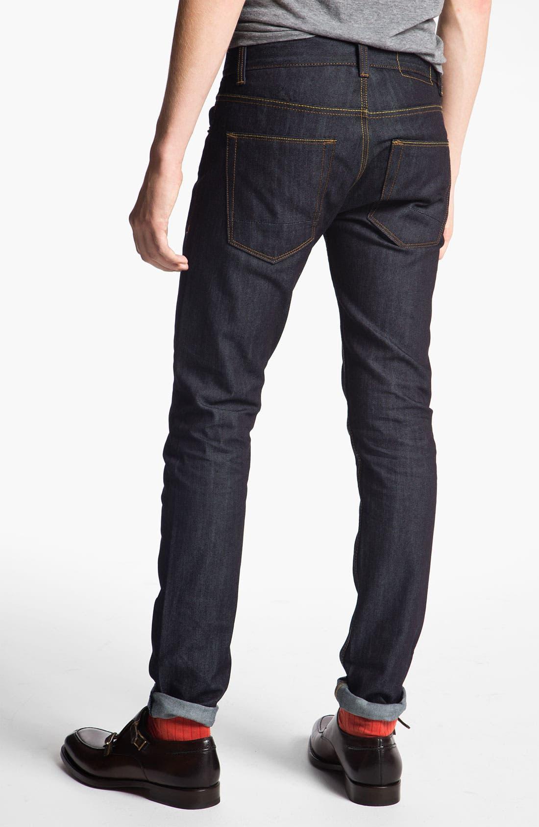 Alternate Image 2  - Topman 'Flynn' Skinny Jeans (Indigo)