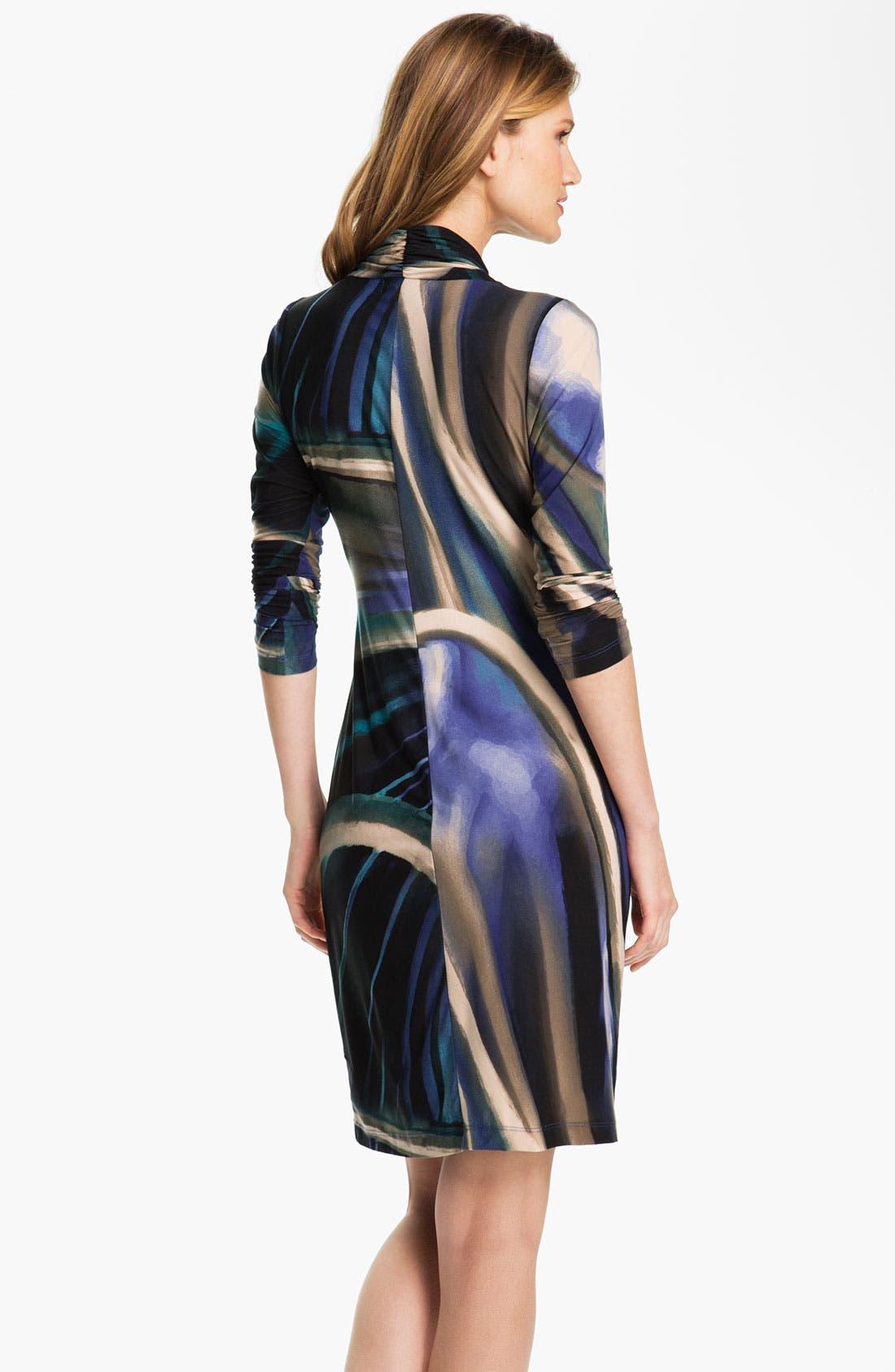 Alternate Image 2  - Karen Kane Print Faux Wrap Dress