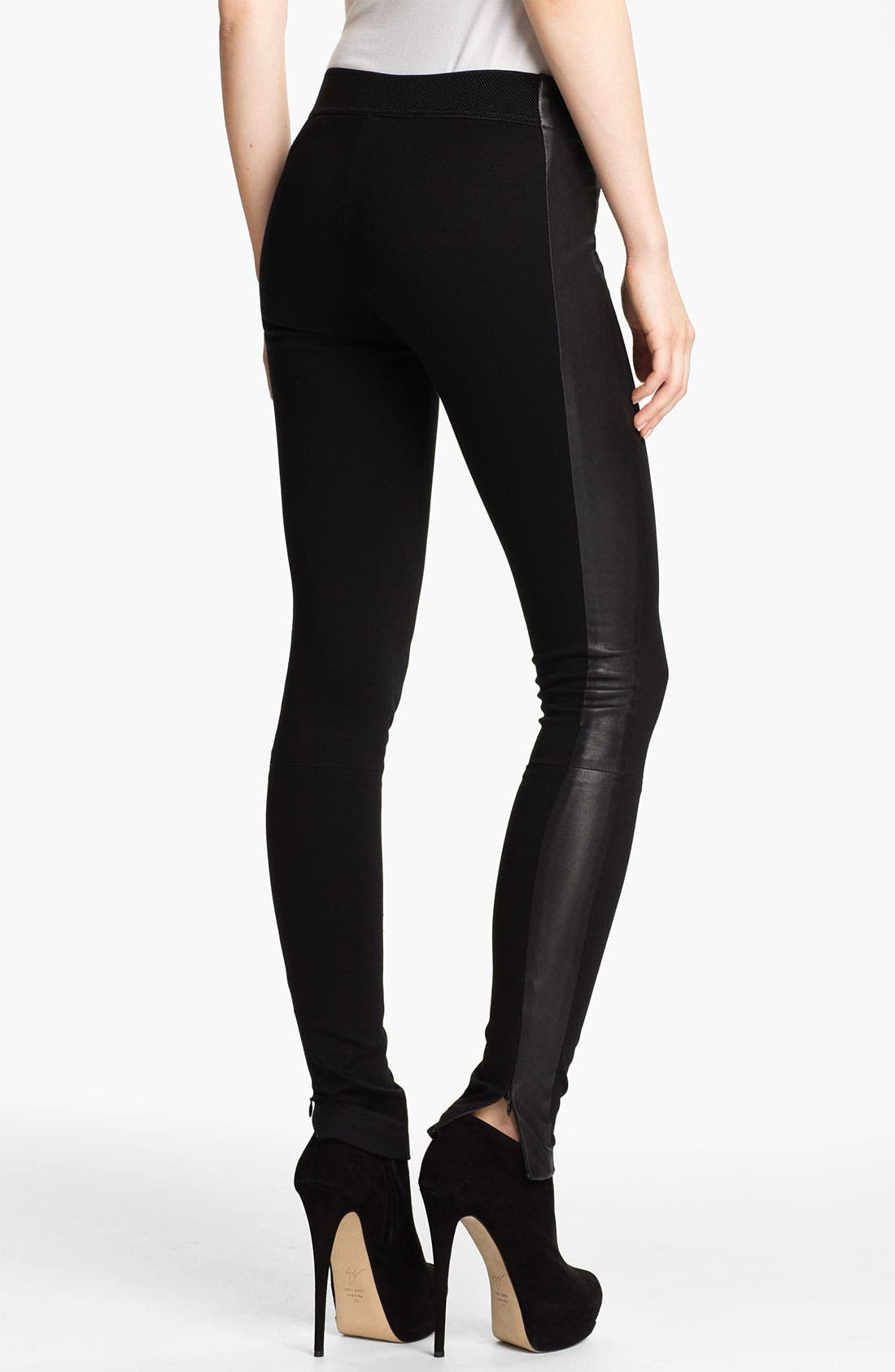 Alternate Image 2  - rag & bone 'Renard' Leather Tuxedo Stripe Leggings