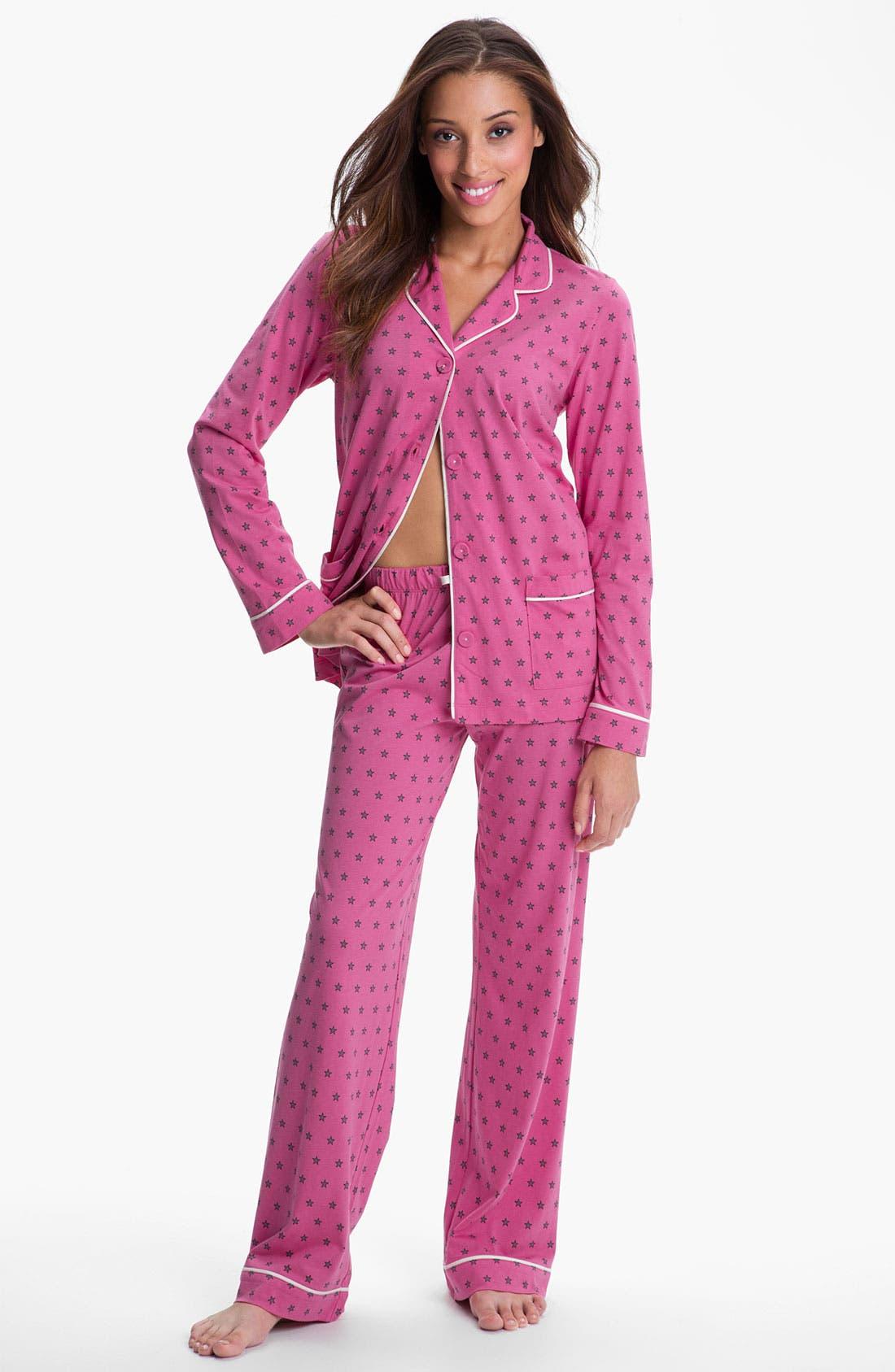 Alternate Image 1 Selected - DKNY Patterned Knit Pajamas