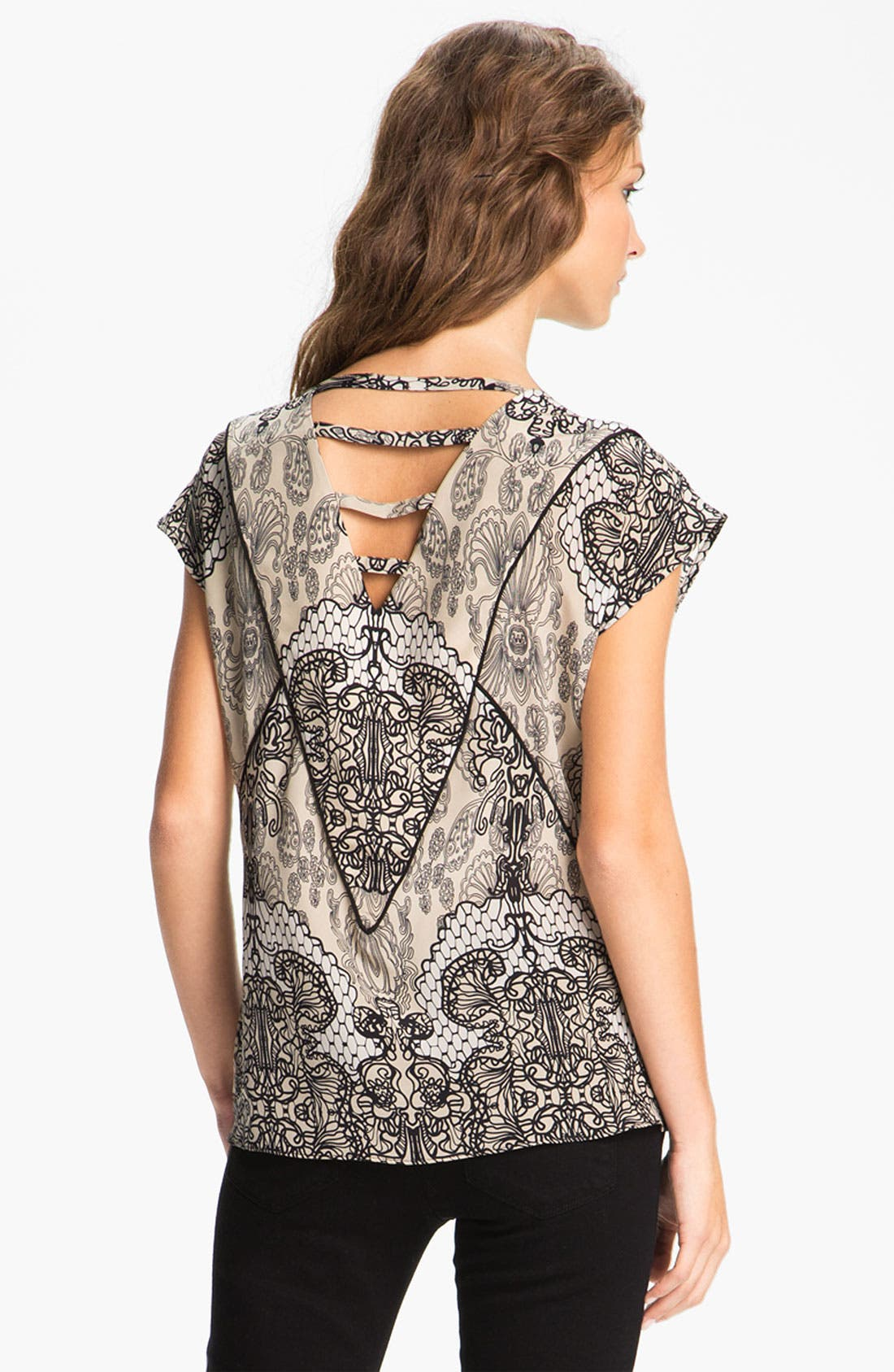Alternate Image 2  - Willow & Clay Lace Print Top