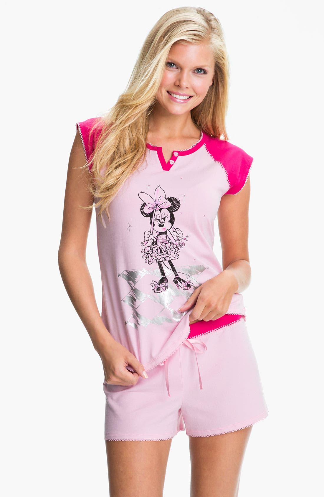 Alternate Image 1 Selected - Betsey Johnson 'Minnie' Shorty Pajamas
