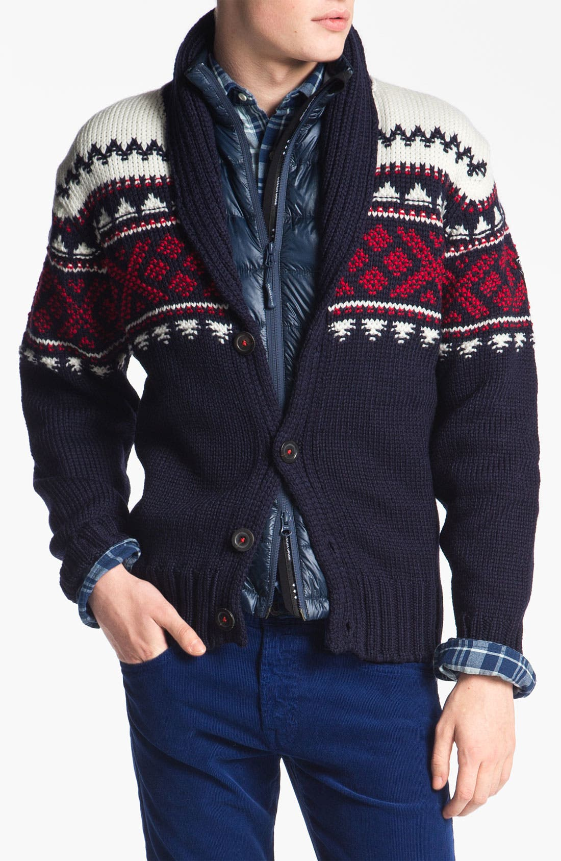 Alternate Image 1 Selected - Dale of Norway 'Valle' Shawl Collar Wool Cardigan