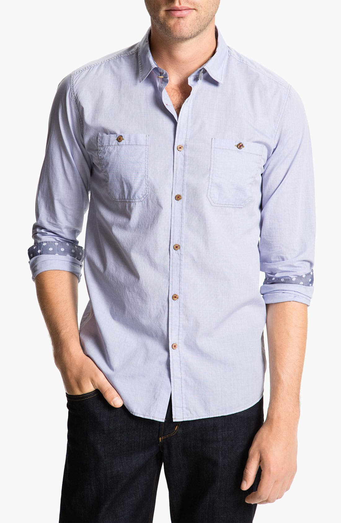 Alternate Image 1 Selected - Ted Baker London 'Pencar' Woven Sport Shirt