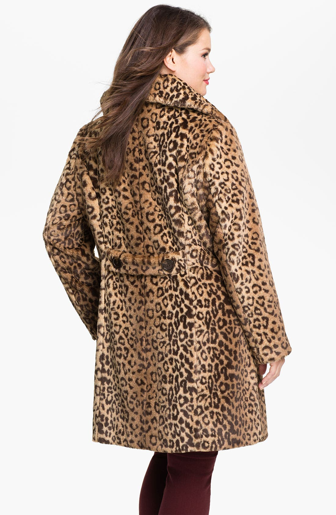 Alternate Image 2  - Weatherproof® Faux Fur Topper (Plus)