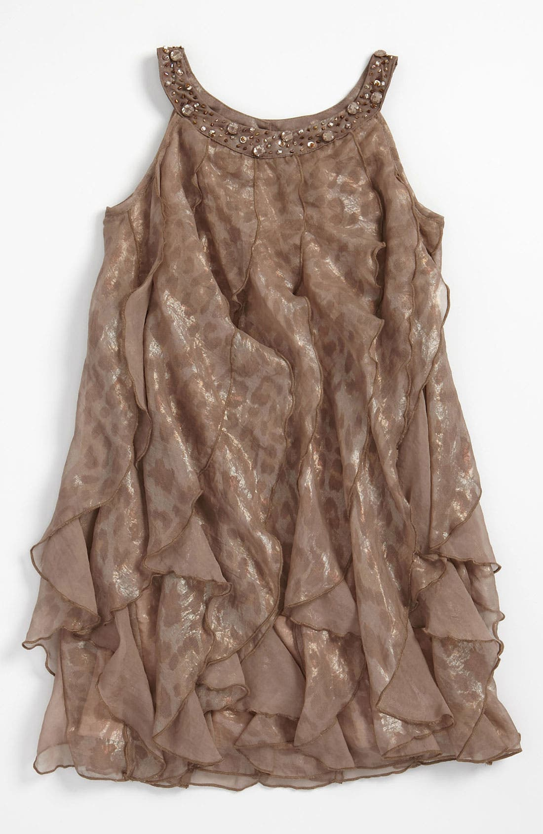 Alternate Image 1 Selected - Biscotti Ruffle Dress (Little Girls)
