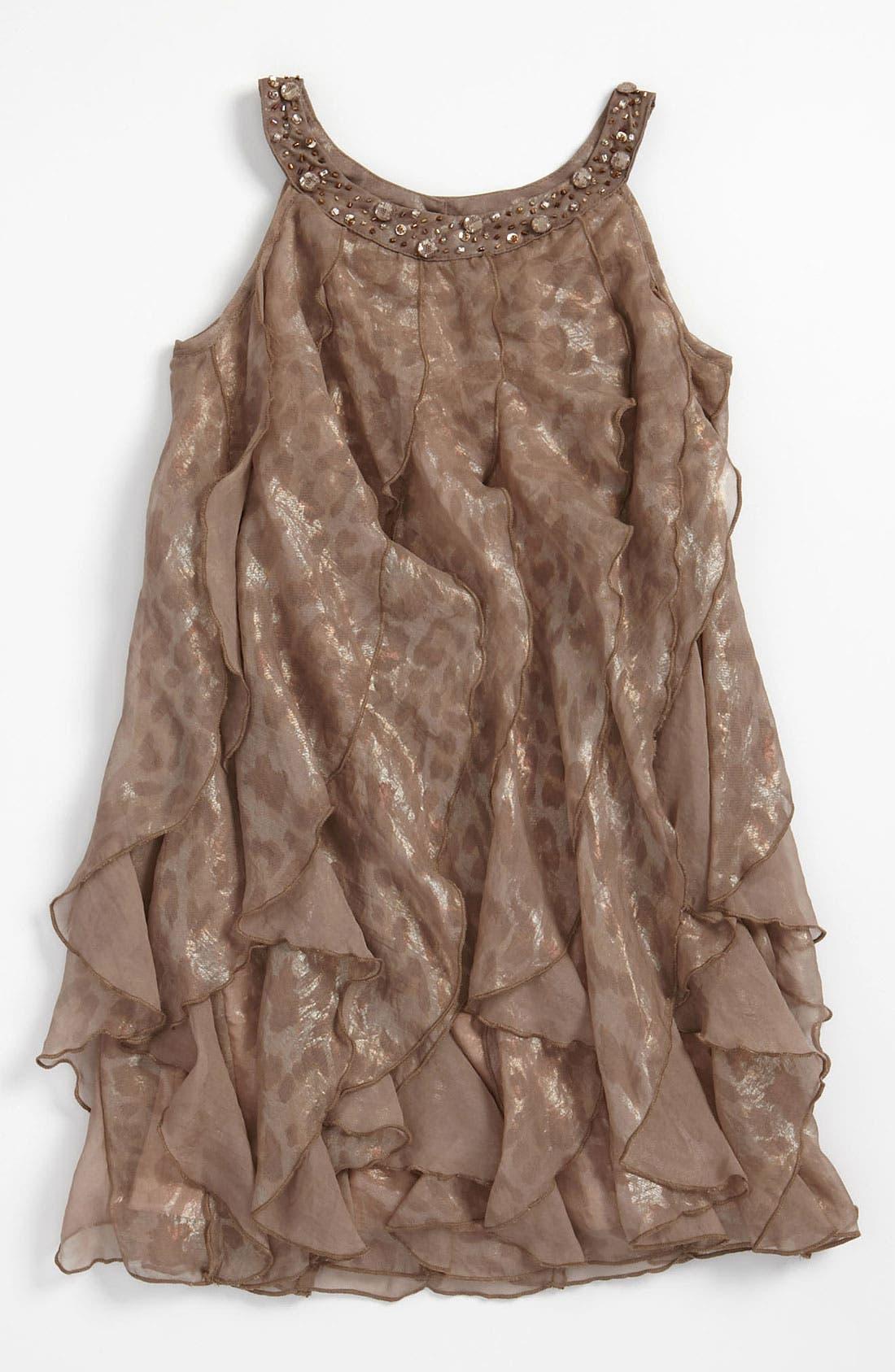Main Image - Biscotti Ruffle Dress (Little Girls)