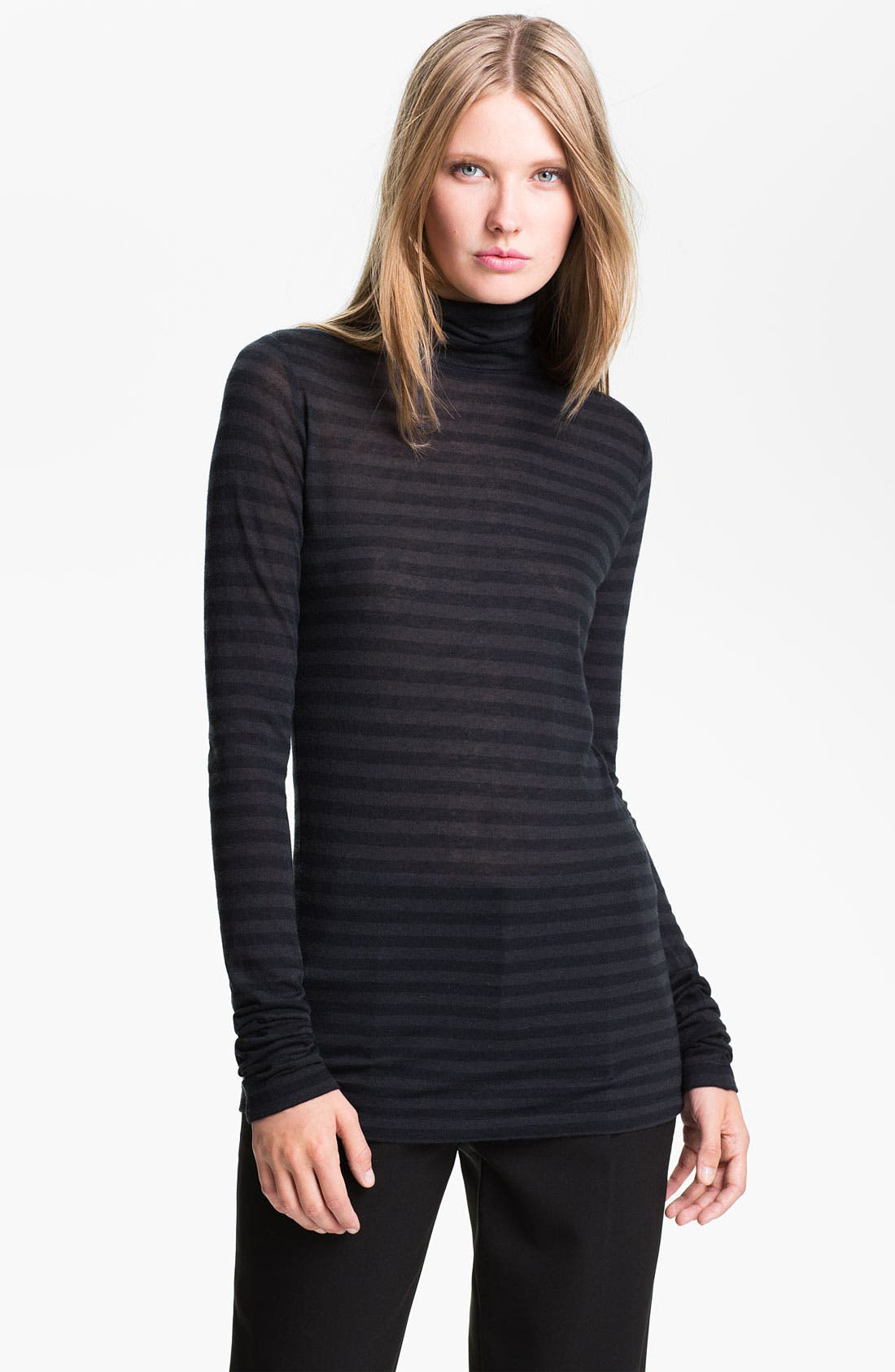 Alternate Image 1 Selected - Vince Stripe Turtleneck