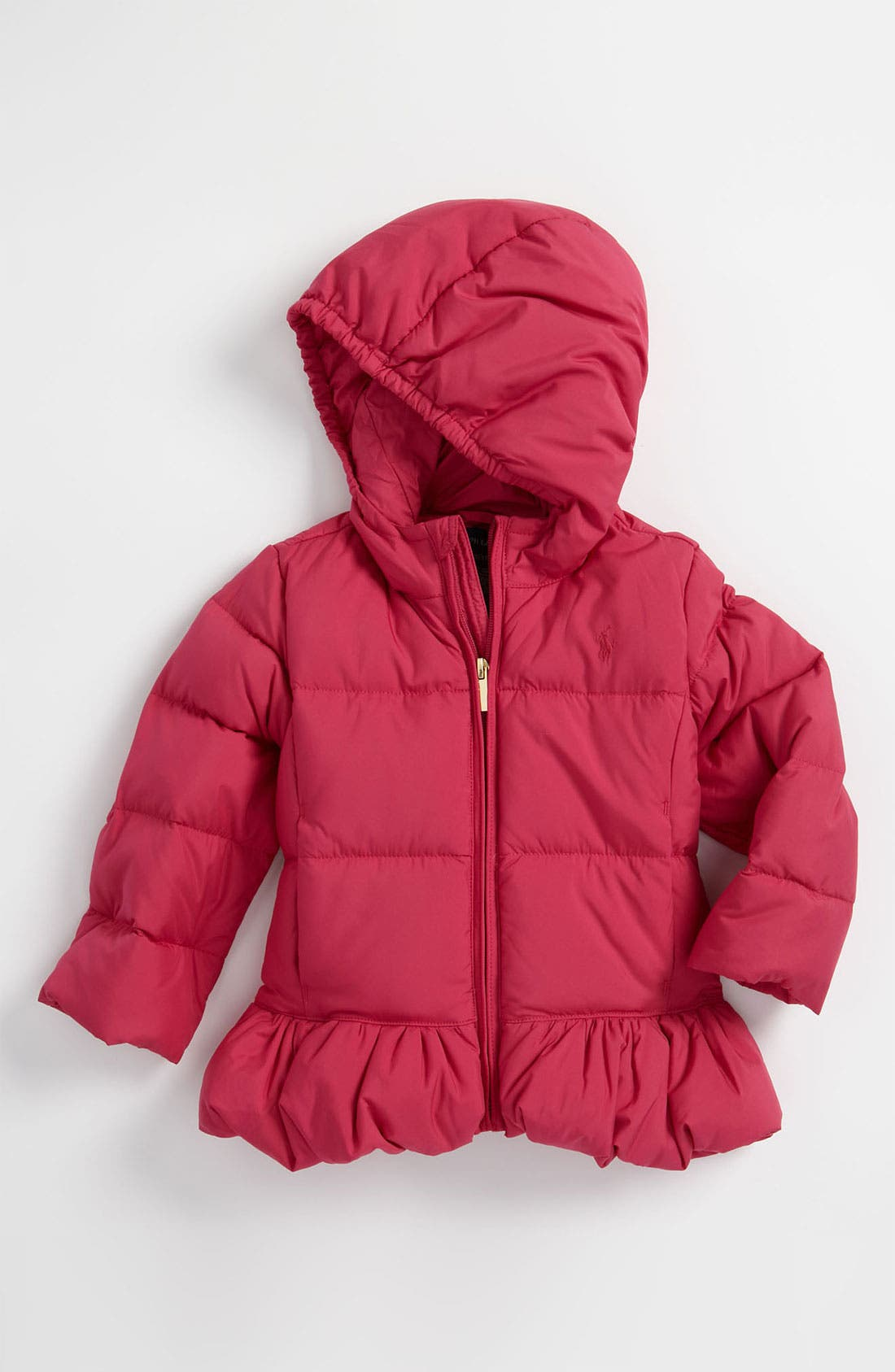 Alternate Image 1 Selected - Ralph Lauren Hooded Down Puffer Jacket (Toddler)