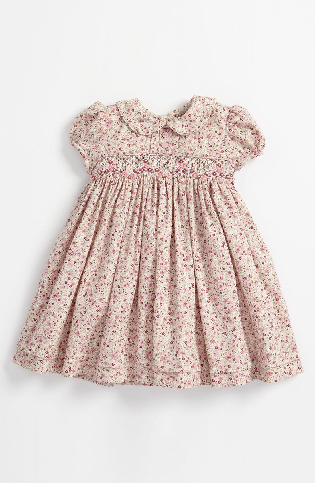 Luli & Me Floral Smocked Dress (Infant) | Nordstrom