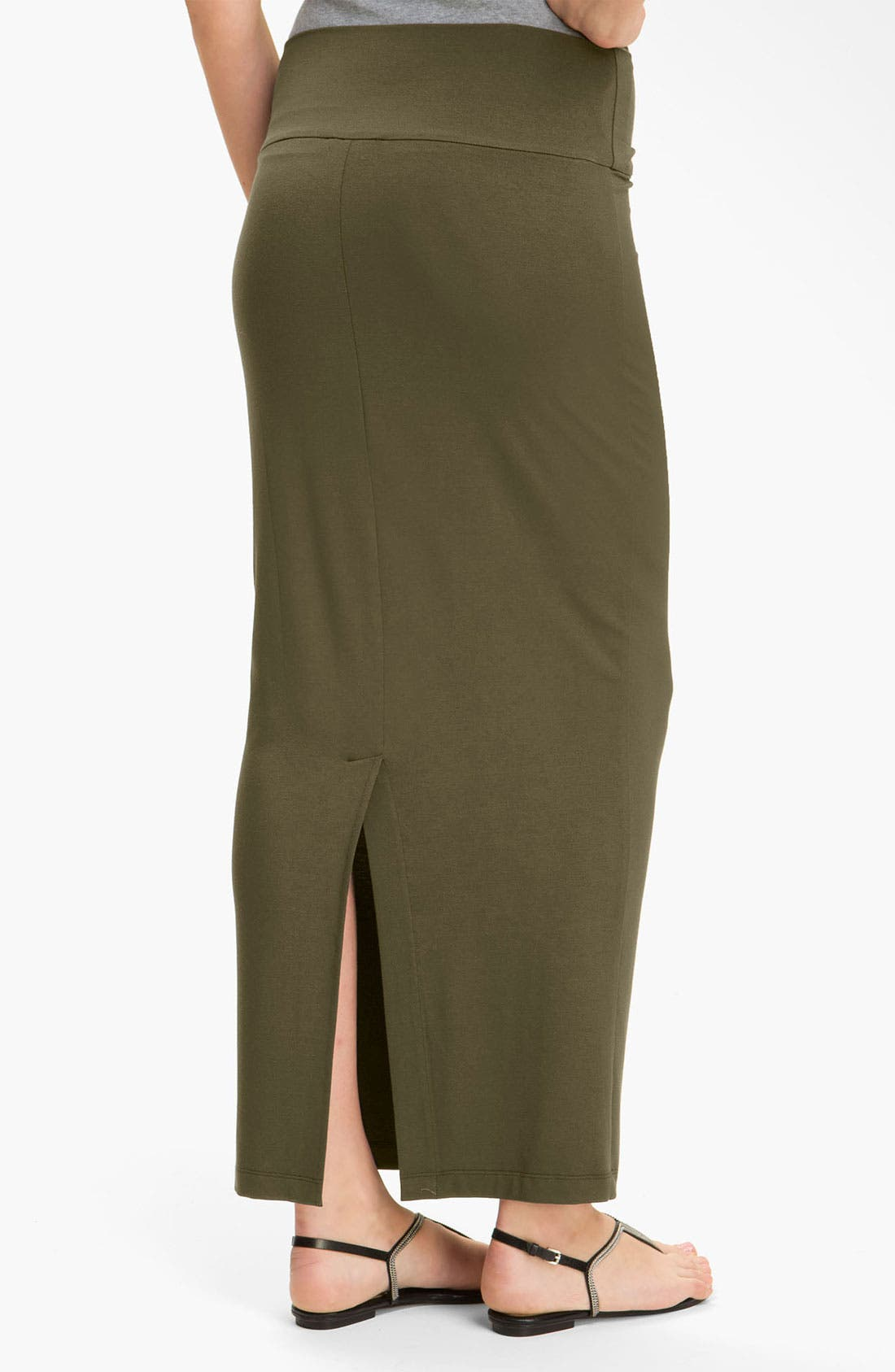 Alternate Image 2  - Eileen Fisher Fold Over Slim Maxi Skirt