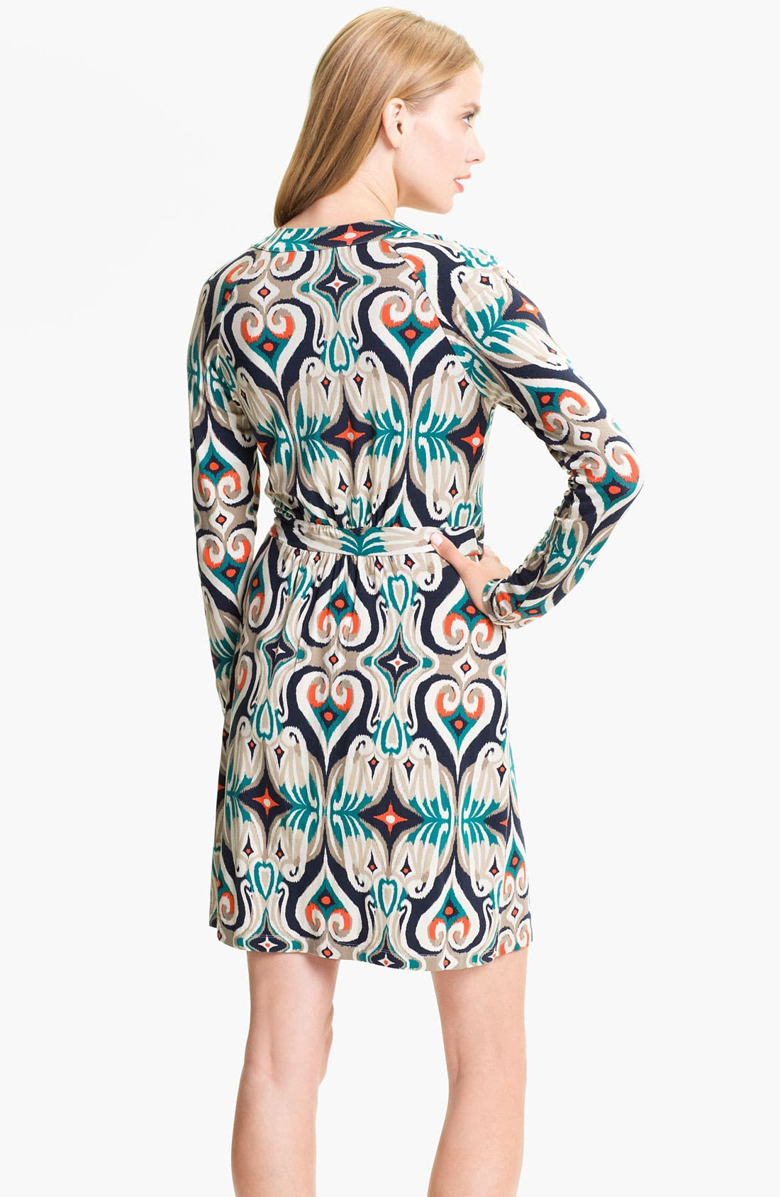 Alternate Image 2  - Tart Print Long Sleeve Wrap Dress