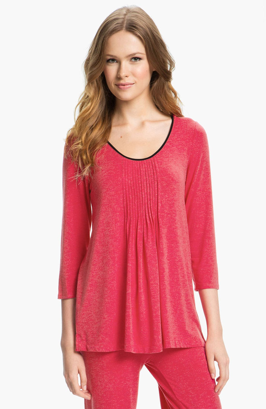 Alternate Image 1 Selected - DKNY '7 Easy Pieces' Pintuck Top