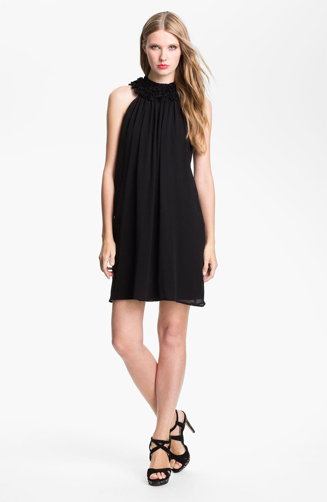 Main Image - French Connection 'Gergie' Ruffle Collar Trapeze Dress