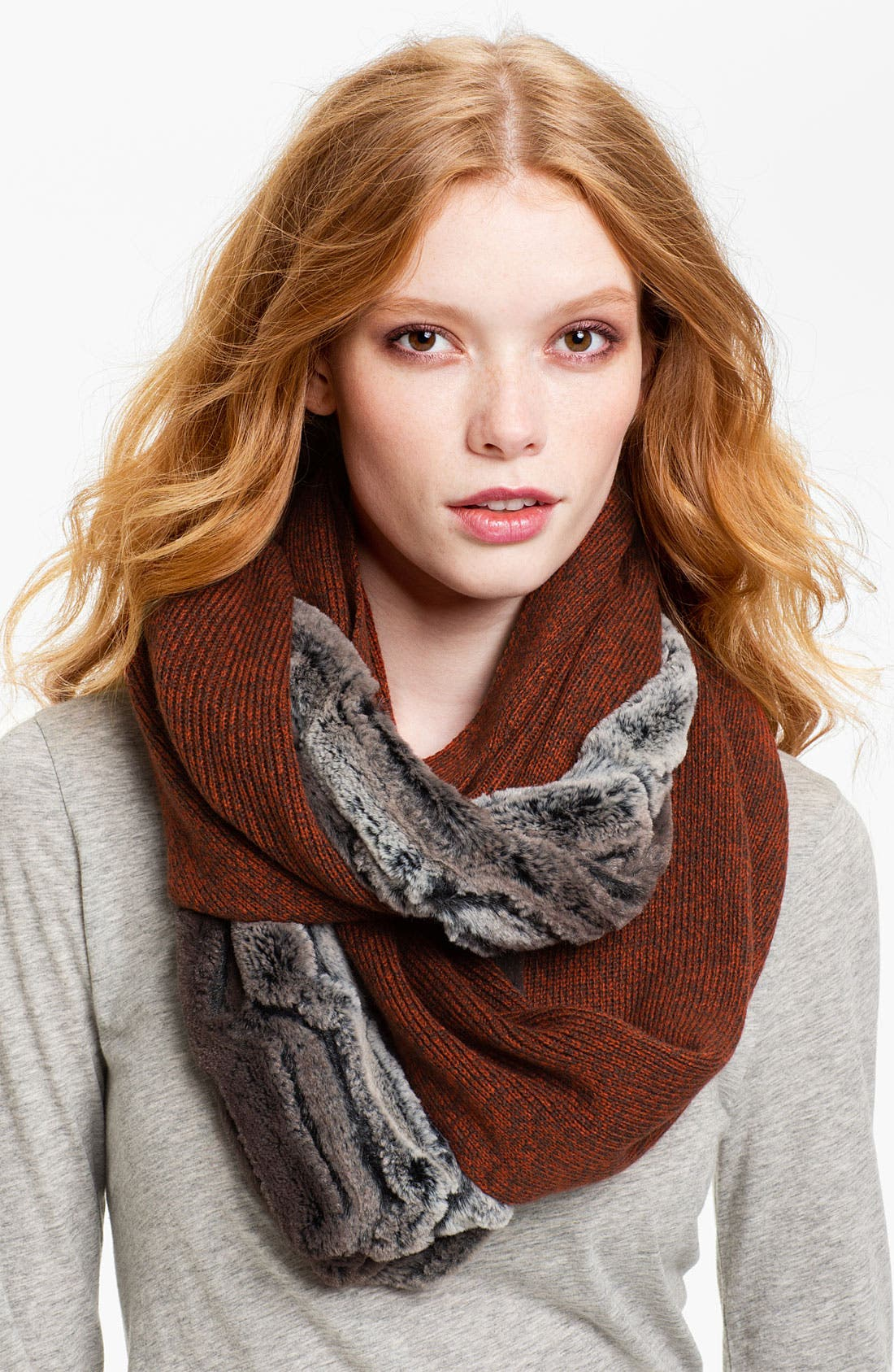 Main Image - Collection XIIX 'Piper' Faux Fur & Marled Knit Infinity Scarf