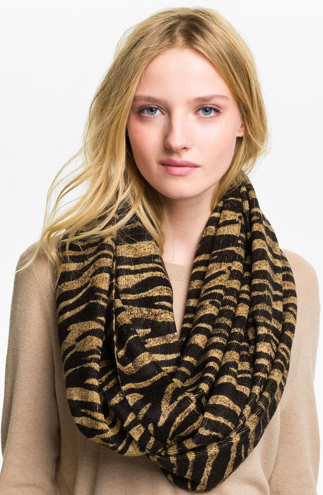 Alternate Image 1 Selected - MICHAEL Michael Kors Animal Print Infinity Scarf