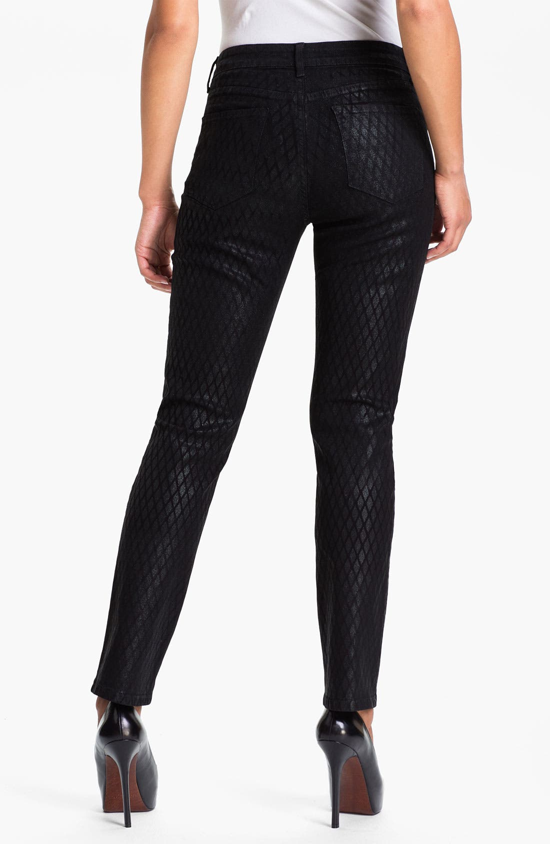 Alternate Image 2  - NYDJ 'Sheri' Geometric Glitter Coated Skinny Stretch Jeans