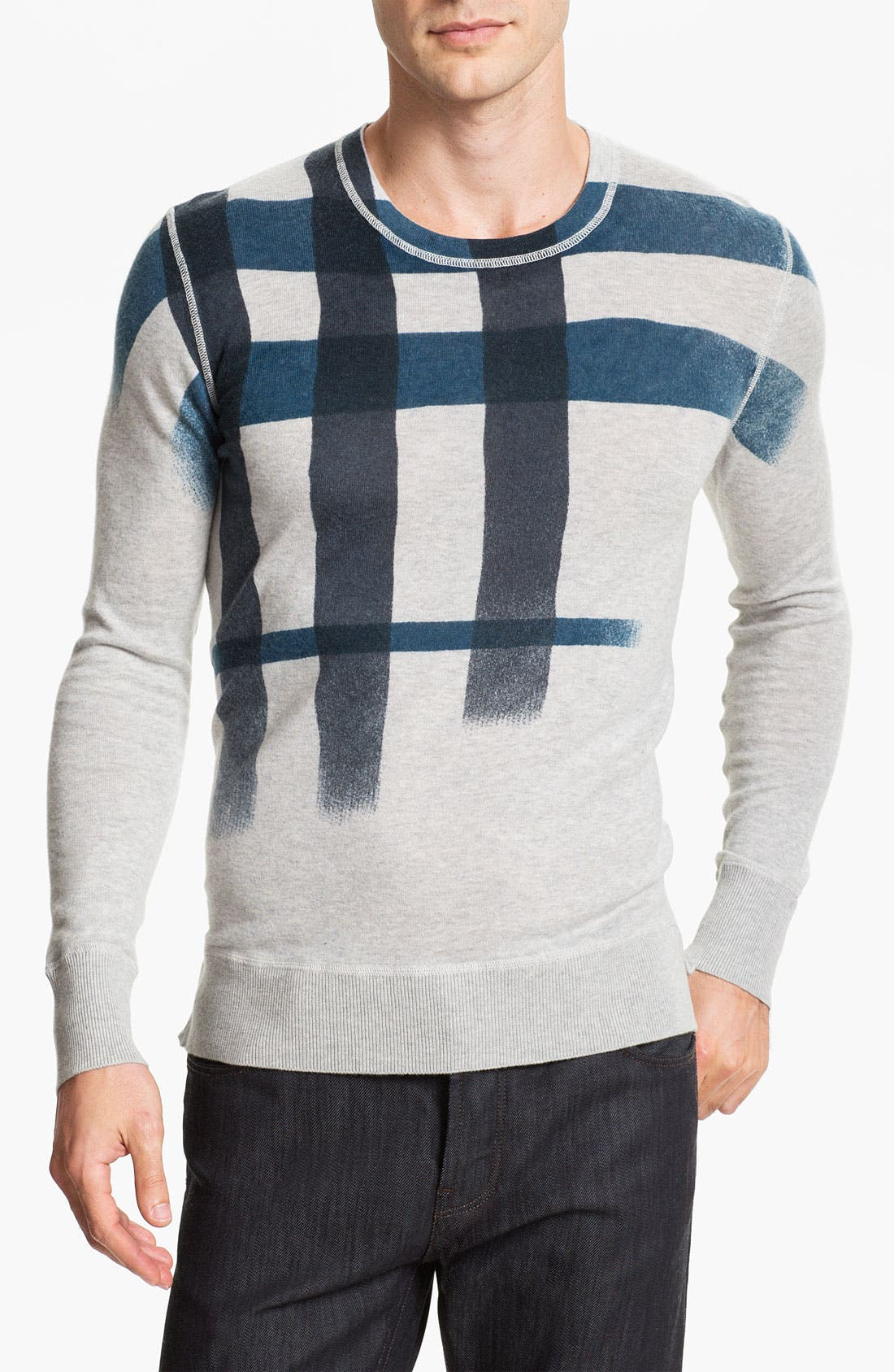 Main Image - Burberry Brit Check Sweater
