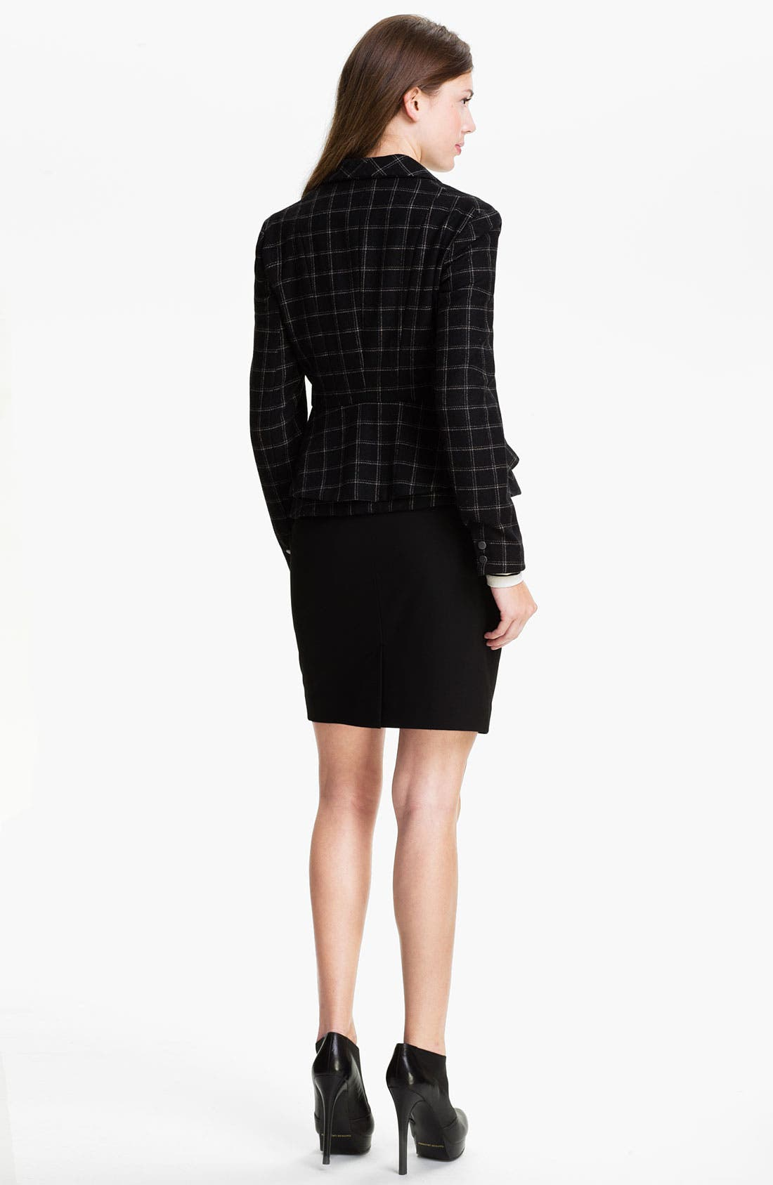 Alternate Image 5  - Max & Mia Plaid Peplum Jacket
