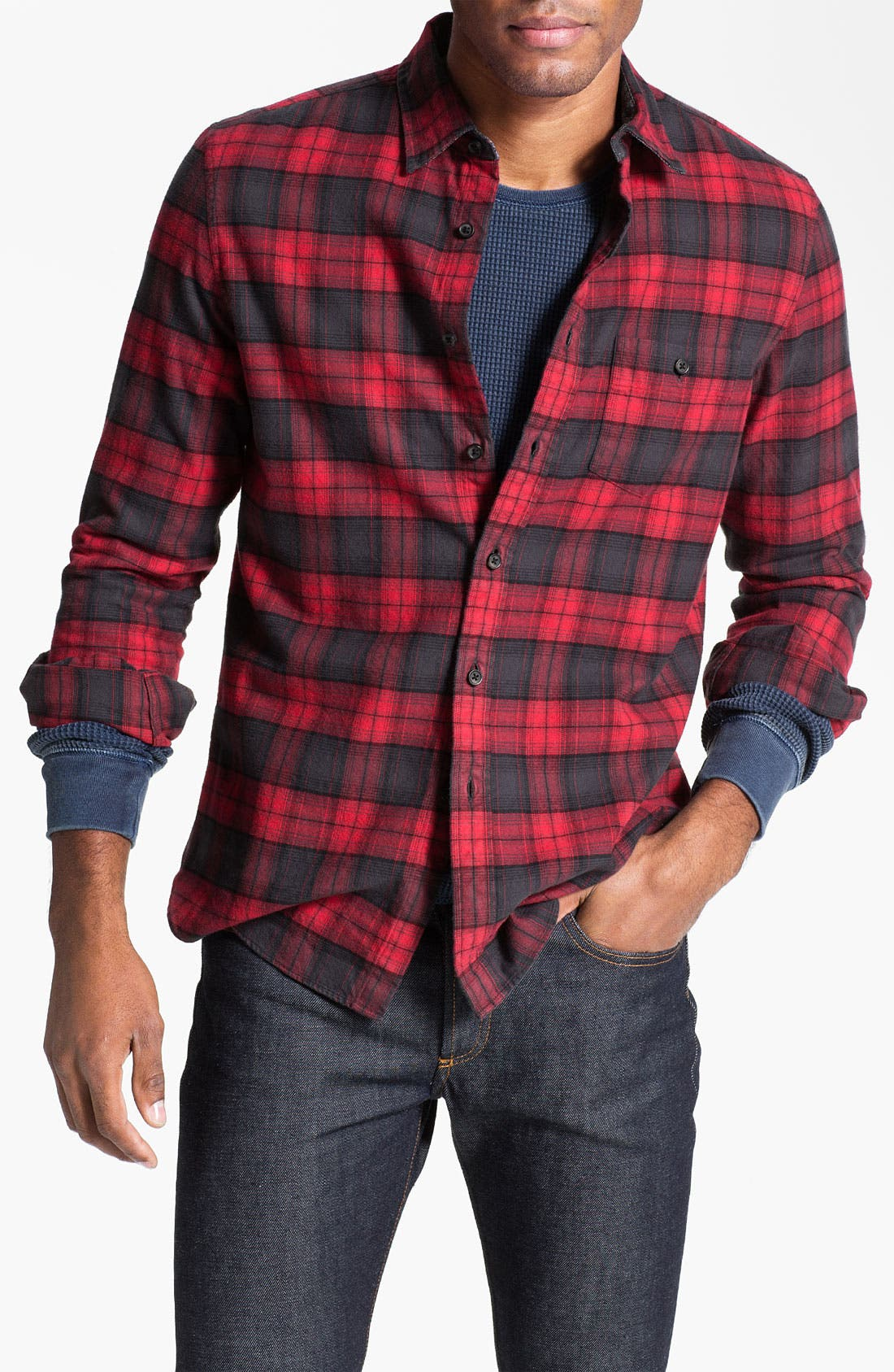 Alternate Image 1 Selected - Wallin & Bros. Plaid Flannel Shirt