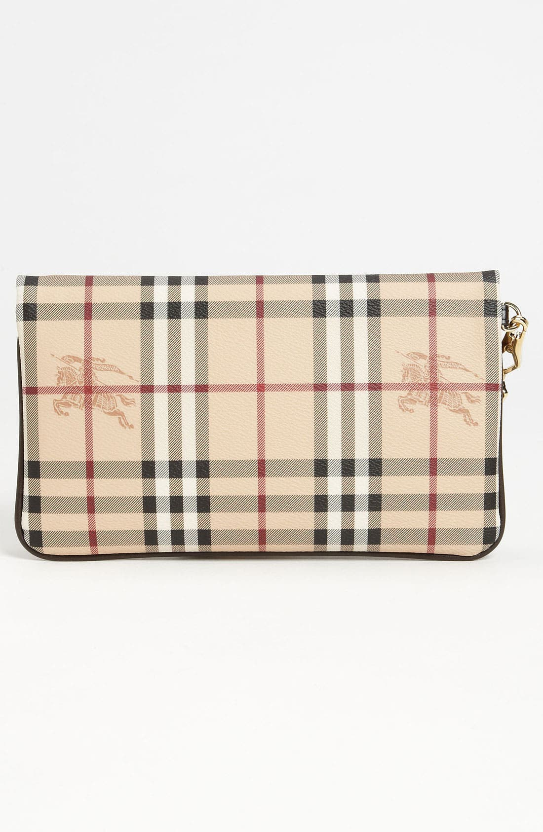 Alternate Image 4  - Burberry 'Haymarket Check' Wristlet
