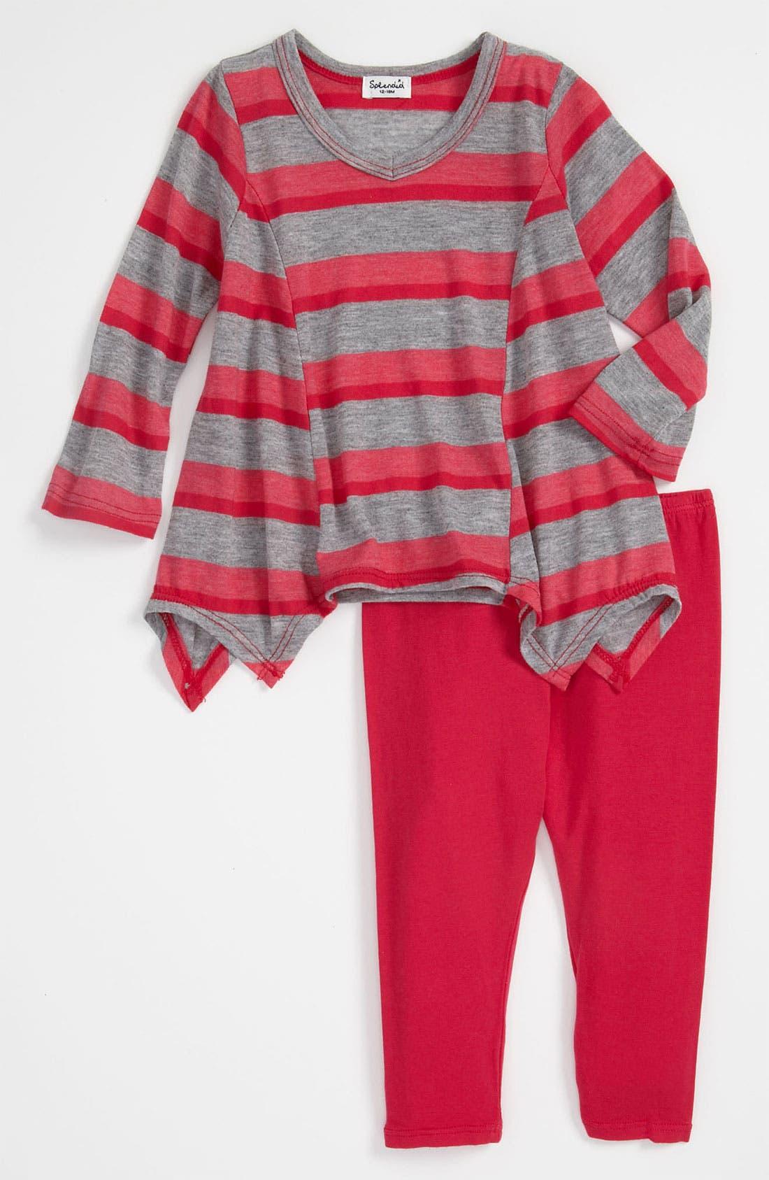 Alternate Image 1 Selected - Splendid 'Lily' Stripe Tunic & Leggings (Infant)
