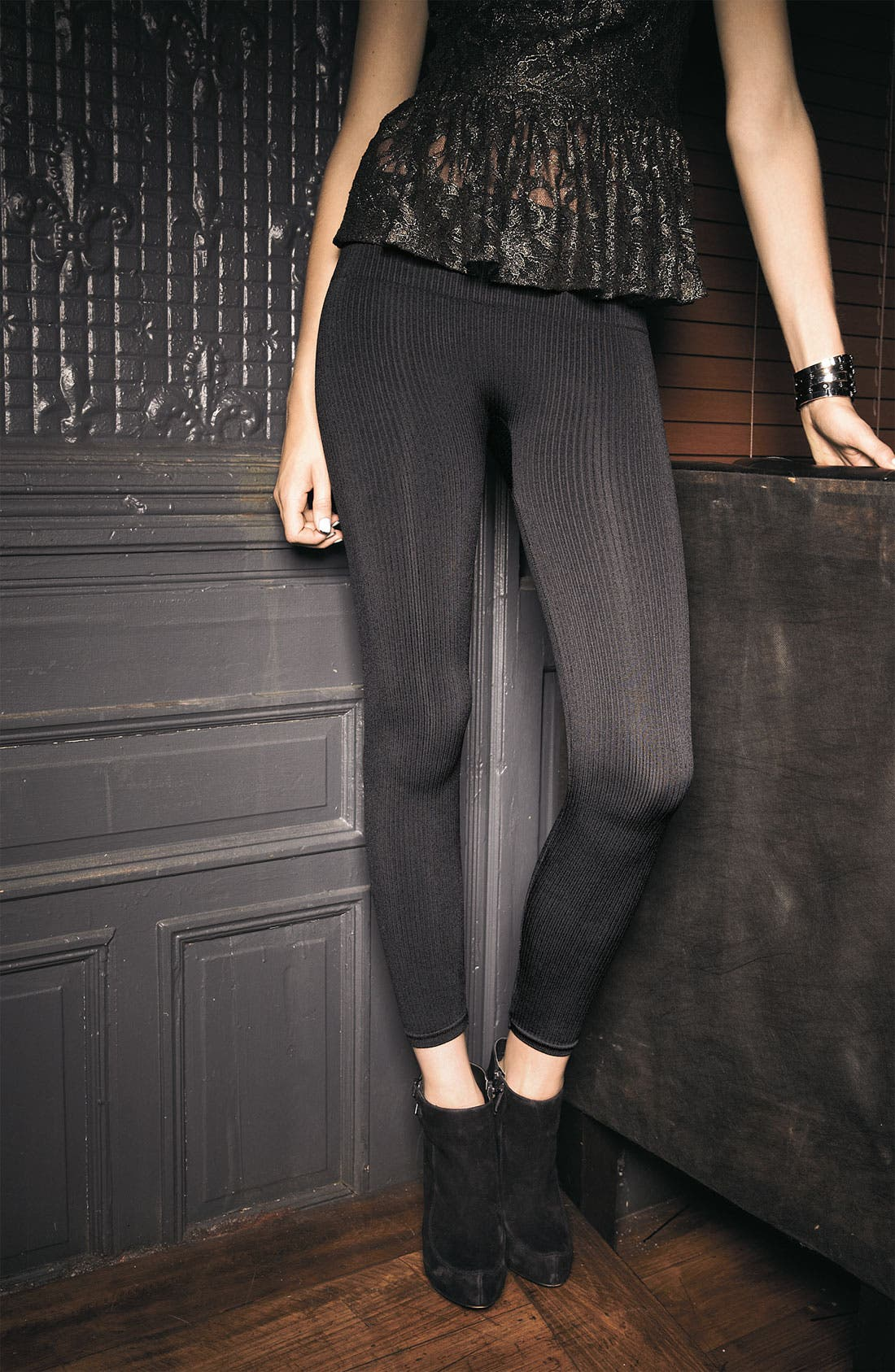 Alternate Image 4  - SPANX® 'Look at Me' Ribbed Leggings