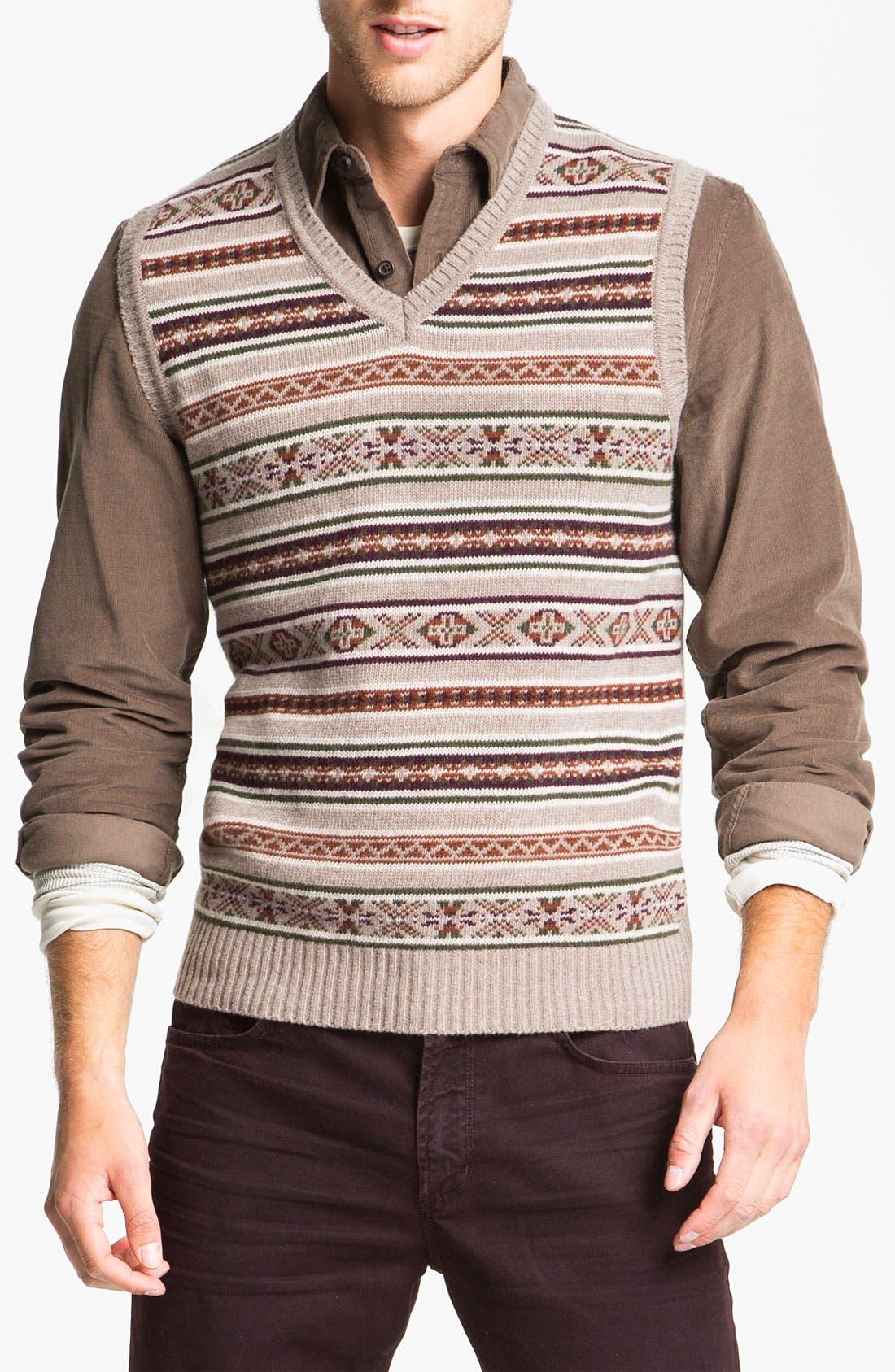 Main Image - Fiesole V-Neck Wool Blend Sweater Vest