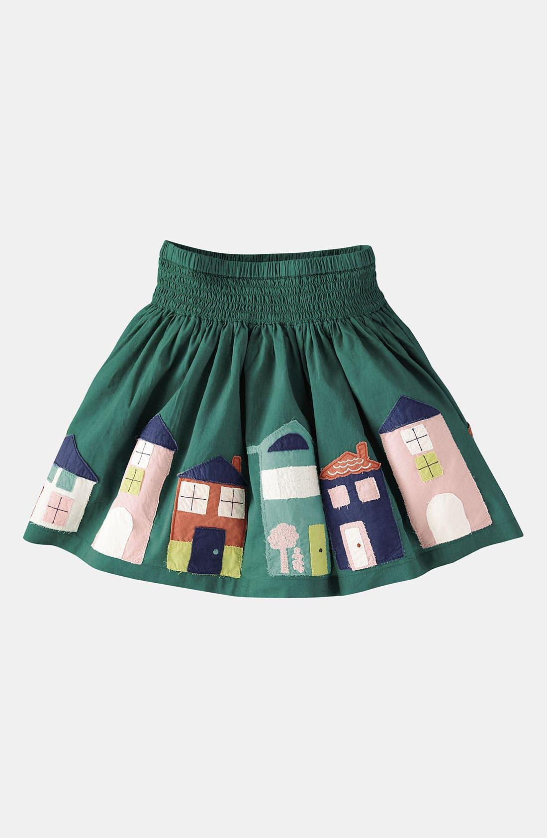 Alternate Image 1 Selected - Mini Boden Appliqué Skirt (Little Girls & Big Girls)