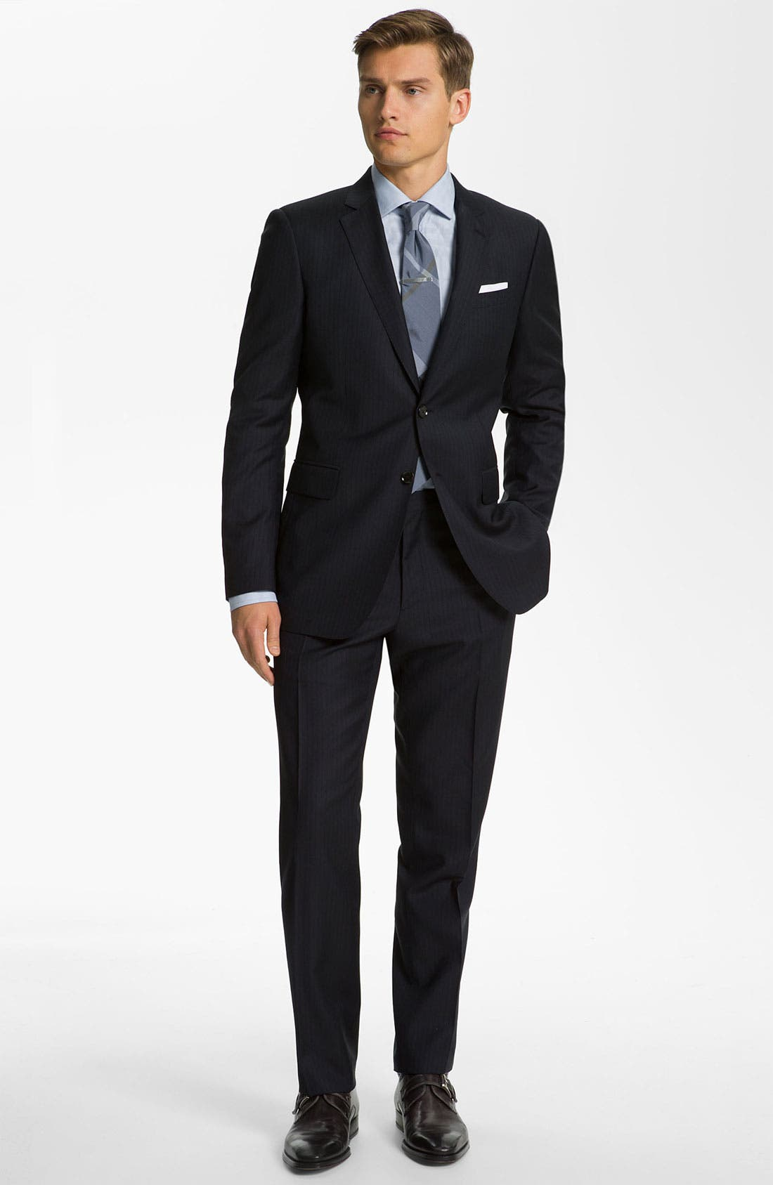 Alternate Image 2  - Burberry London Extra Trim Fit Suit