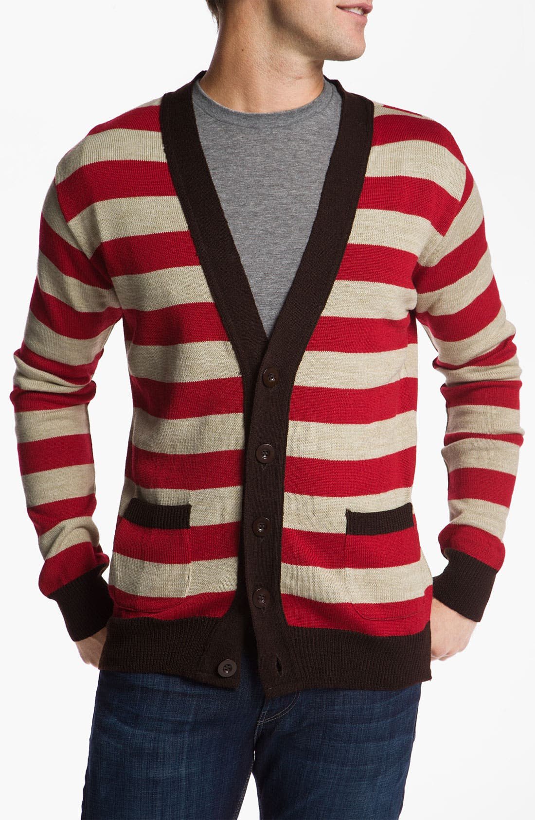 Alternate Image 1 Selected - Vanguard 'Norbert' Stripe Cardigan