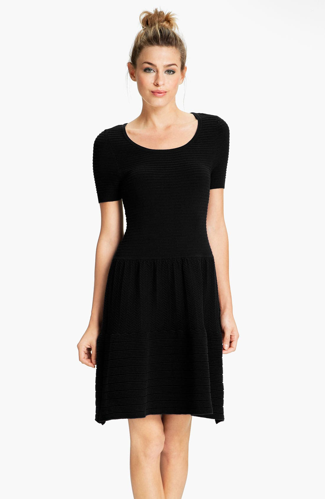 Main Image - Felicity & Coco Short Sleeve Pointelle Sweater Dress (Nordstrom Exclusive)