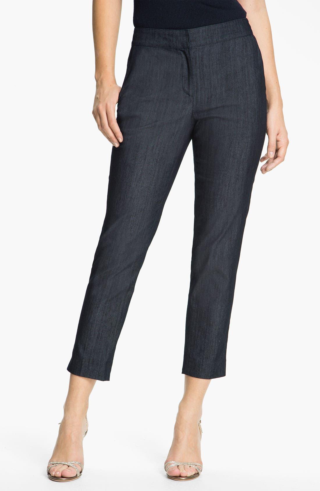 Alternate Image 1 Selected - St. John Collection Lightweight Crop Denim Pants