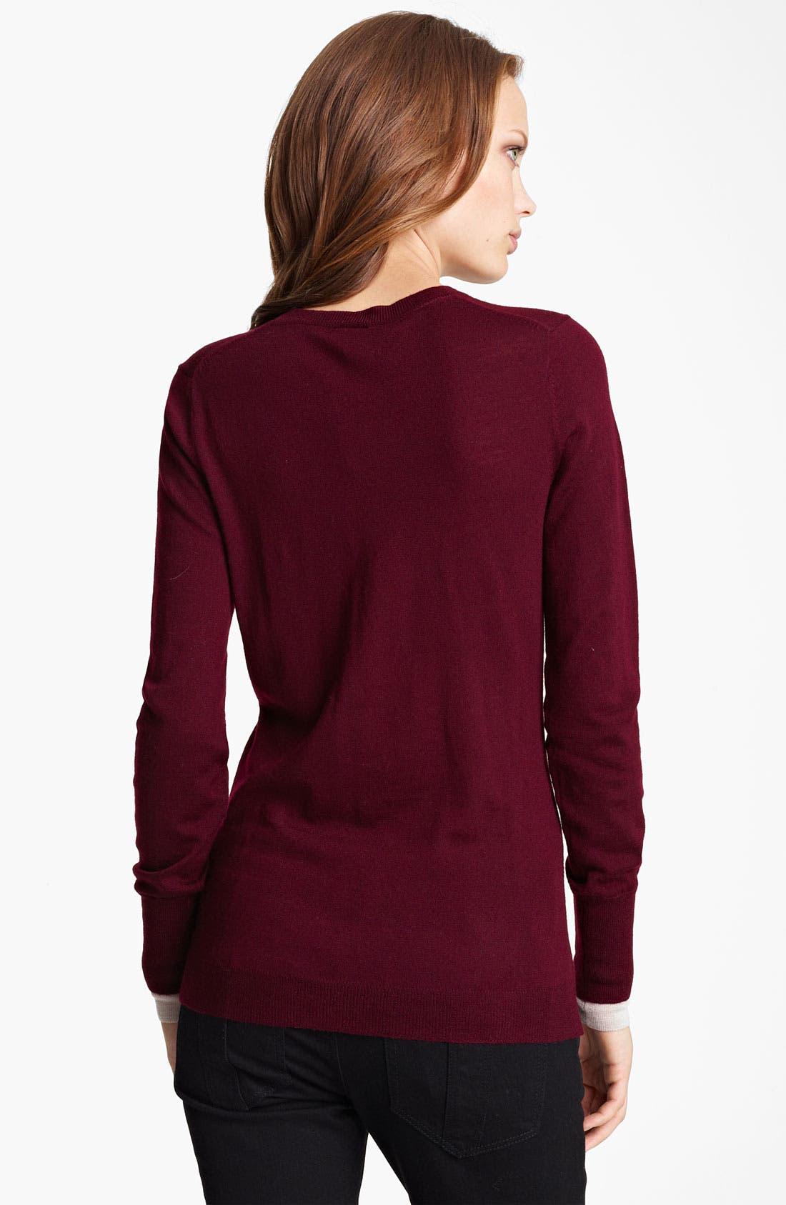 Alternate Image 2  - Burberry Brit Merino Wool Sweater