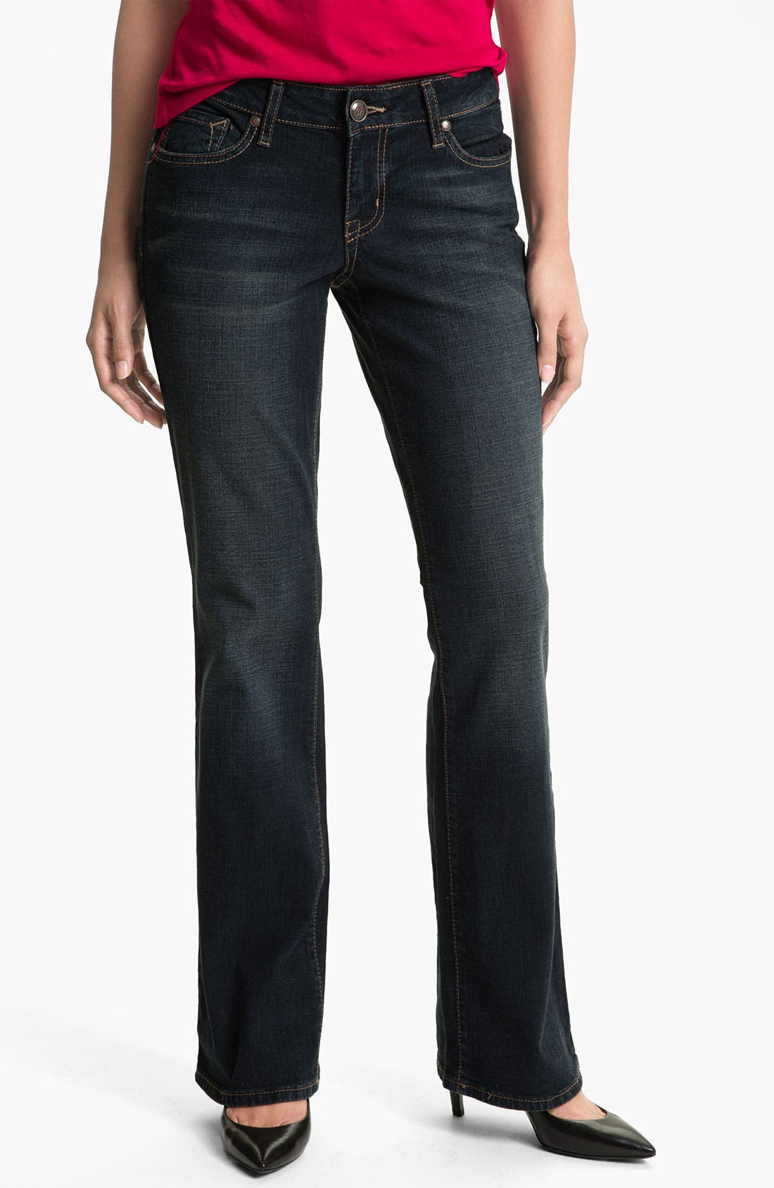 Alternate Image 1 Selected - Jessica Simpson 'Rockin' Curvy Bootcut Jeans (Mariana Stanton)