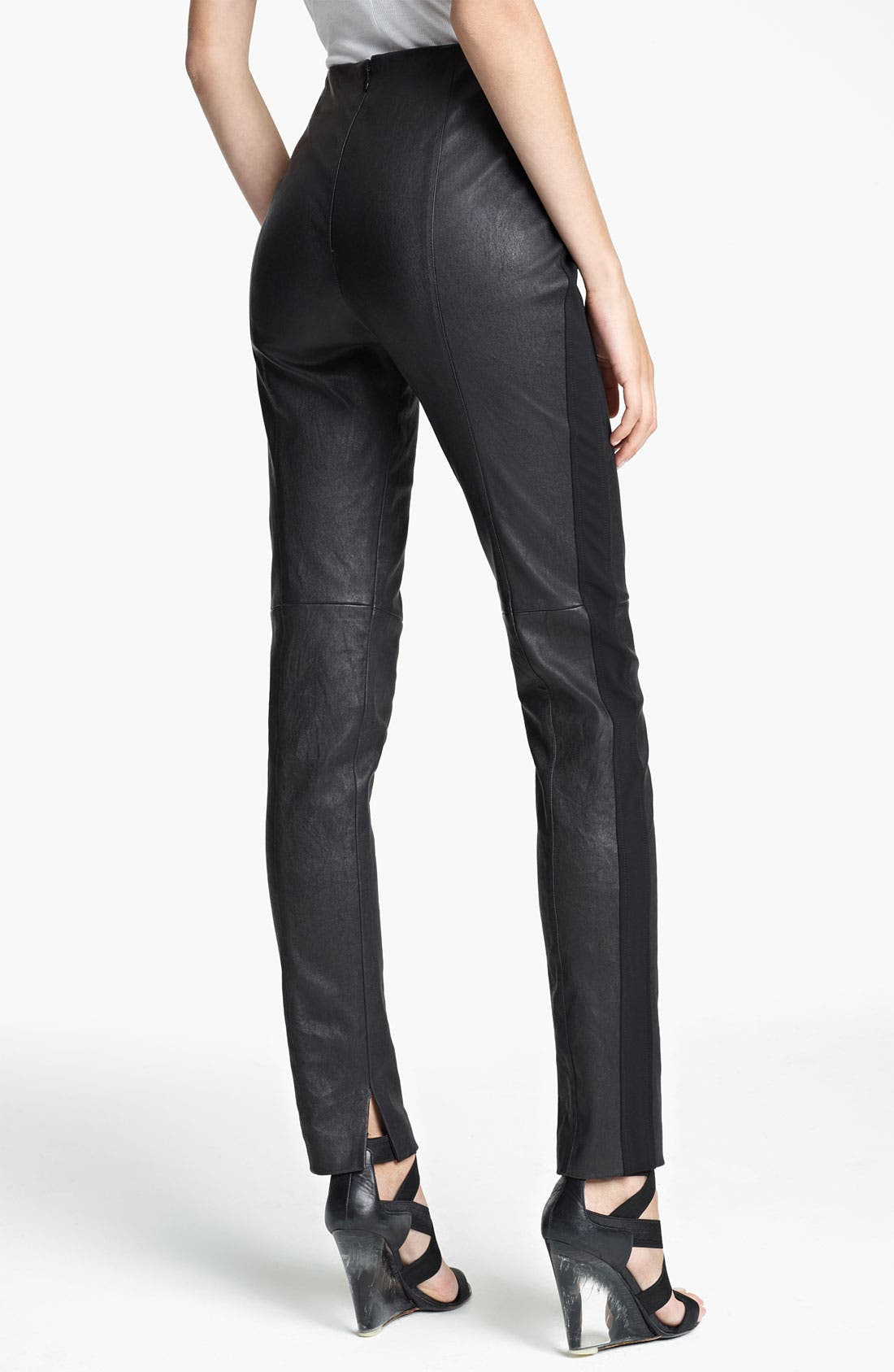 Alternate Image 2  - Donna Karan Collection Skinny Stretch Leather Pants