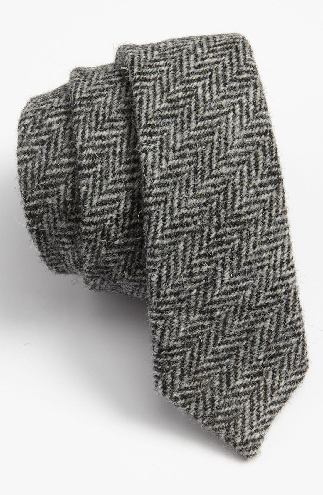 Main Image - David Hart Harris Tweed Herringbone Tie