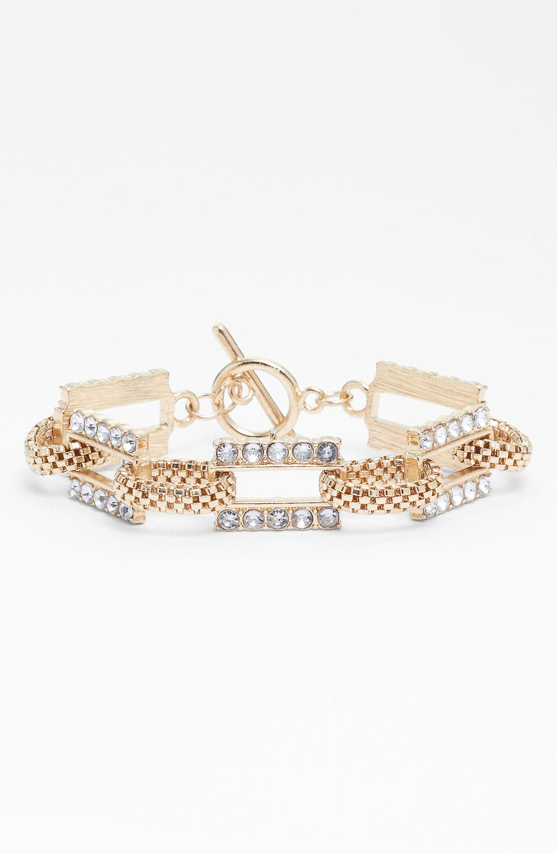 Alternate Image 1 Selected - Carole Rhinestone & Chain Link Bracelet