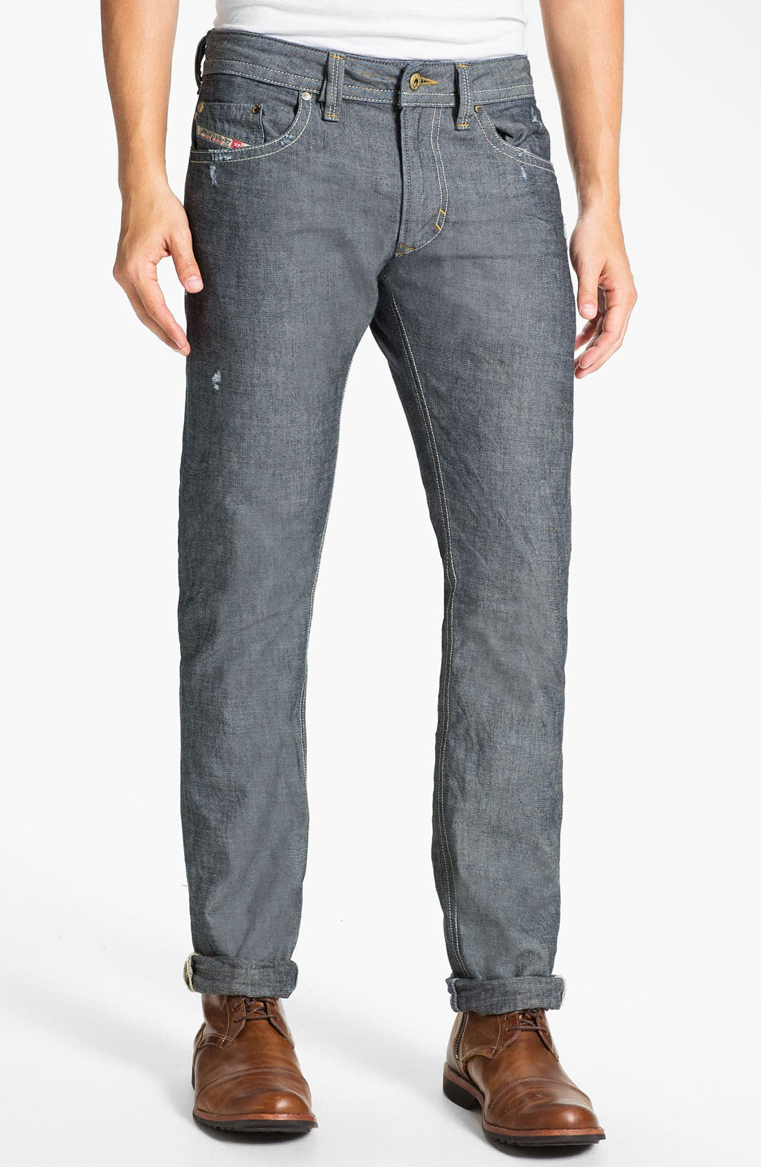 Alternate Image 2  - DIESEL® 'Thavar' Slim Straight Leg Jeans (0809D) (Online Exclusive)