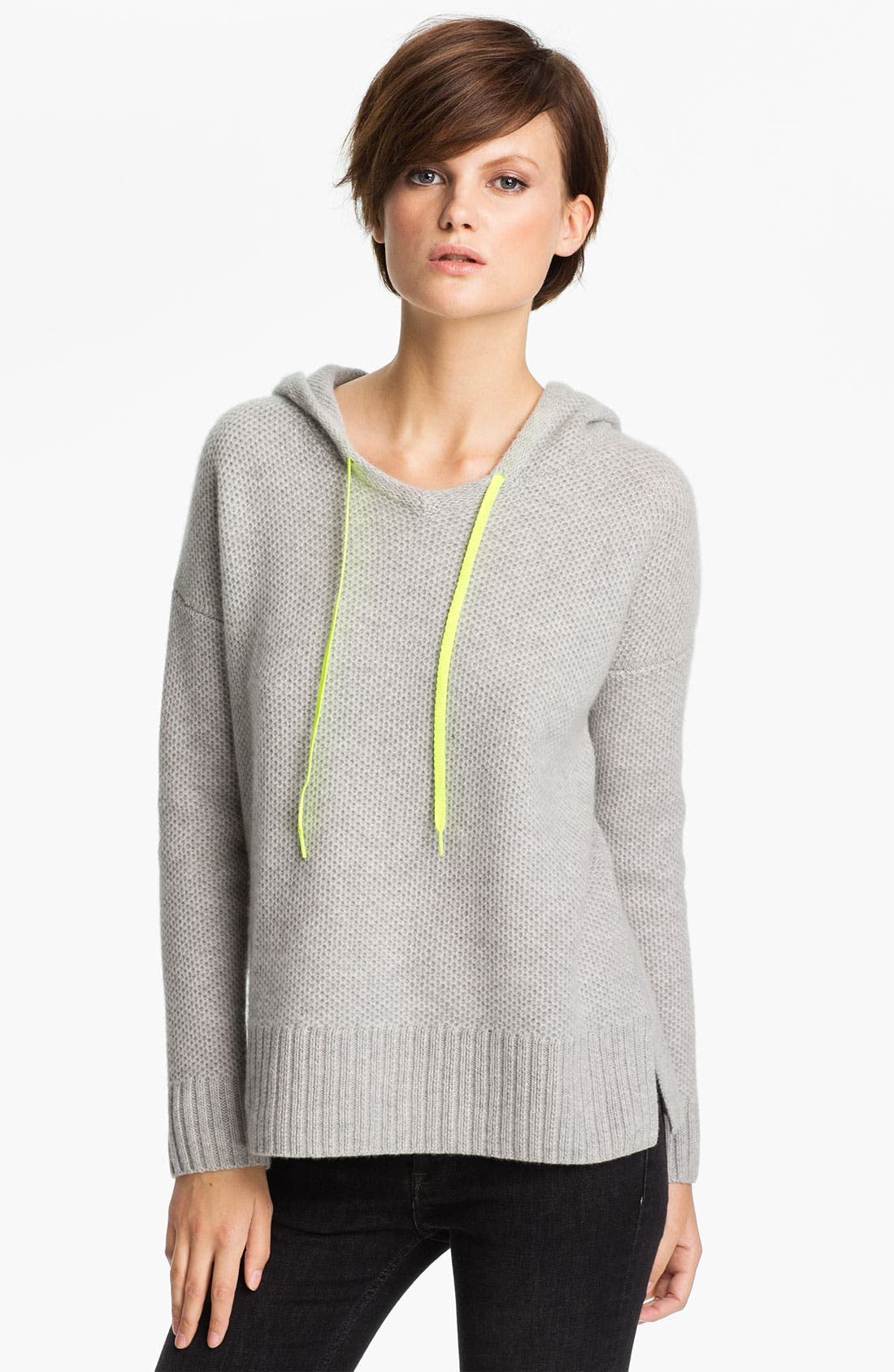 Alternate Image 1 Selected - autumn cashmere Honeycomb Stitch Hoodie