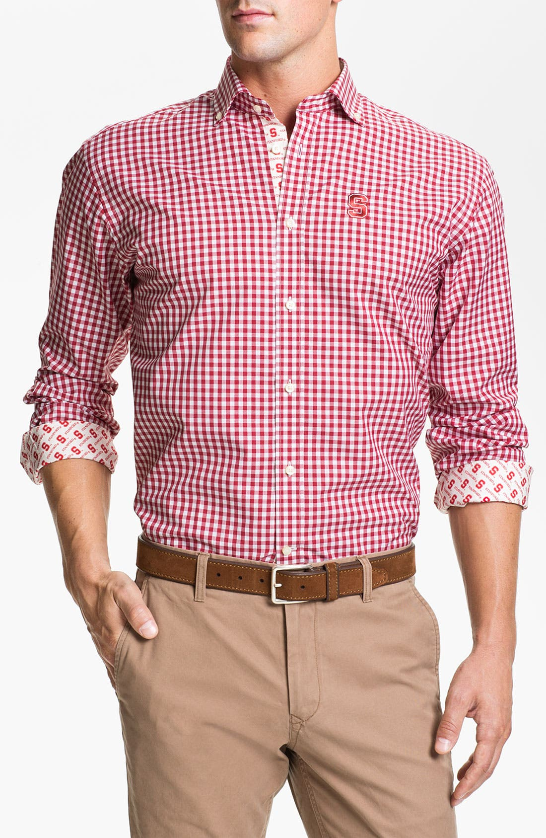 Main Image - Thomas Dean 'Stanford University' Traditional Fit Sport Shirt