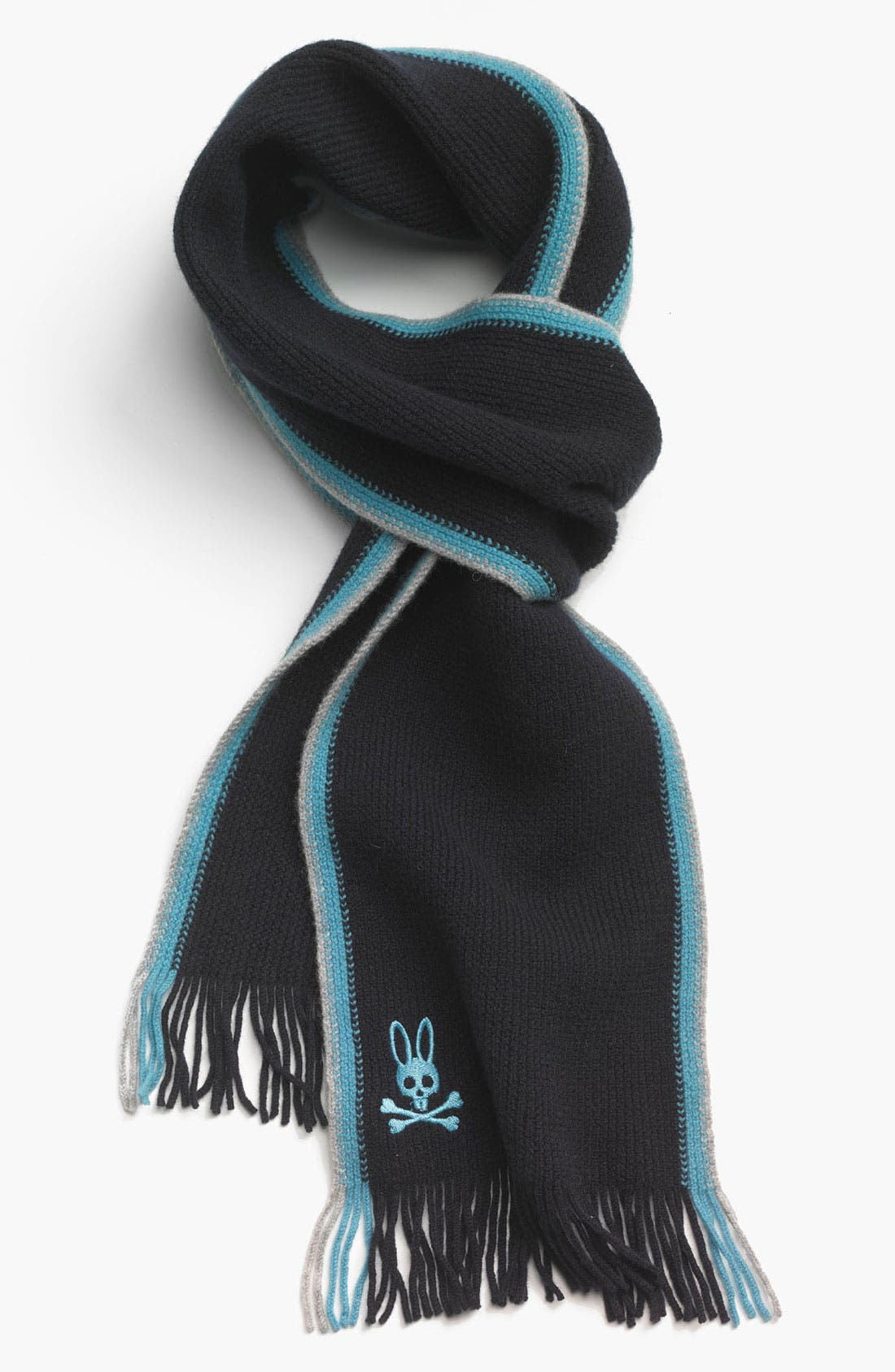 Main Image - Psycho Bunny 'Side Stripes' Lambswool Scarf