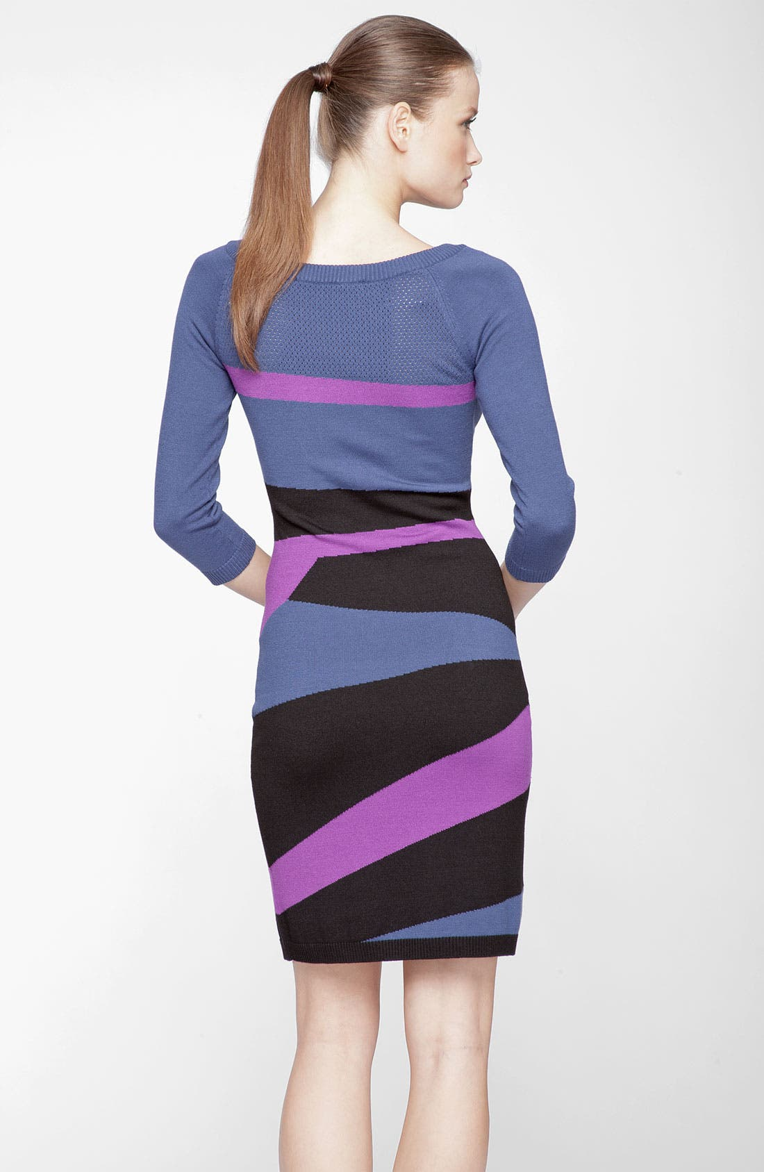 Alternate Image 2  - Marc New York by Andrew Marc Abstract Print Sweater Dress